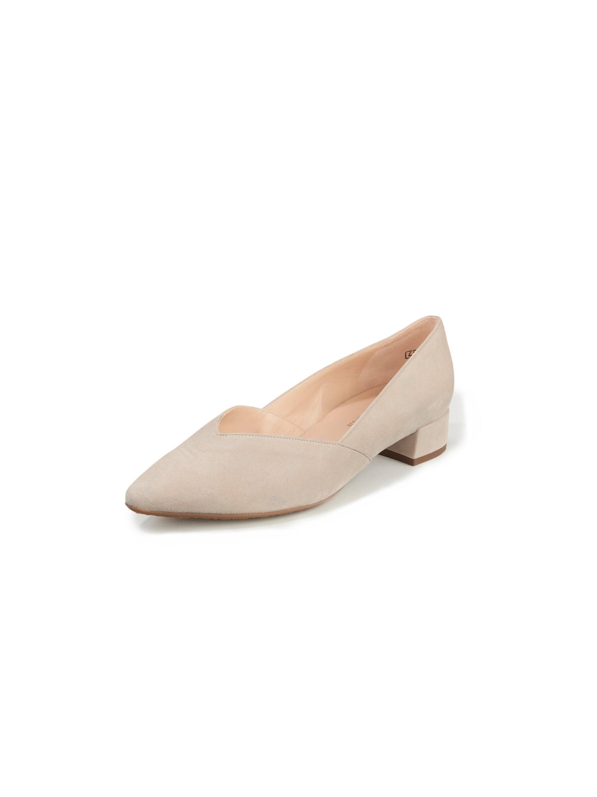 Ballerina's van geitensuèdeleer Van Peter Kaiser beige Kopen