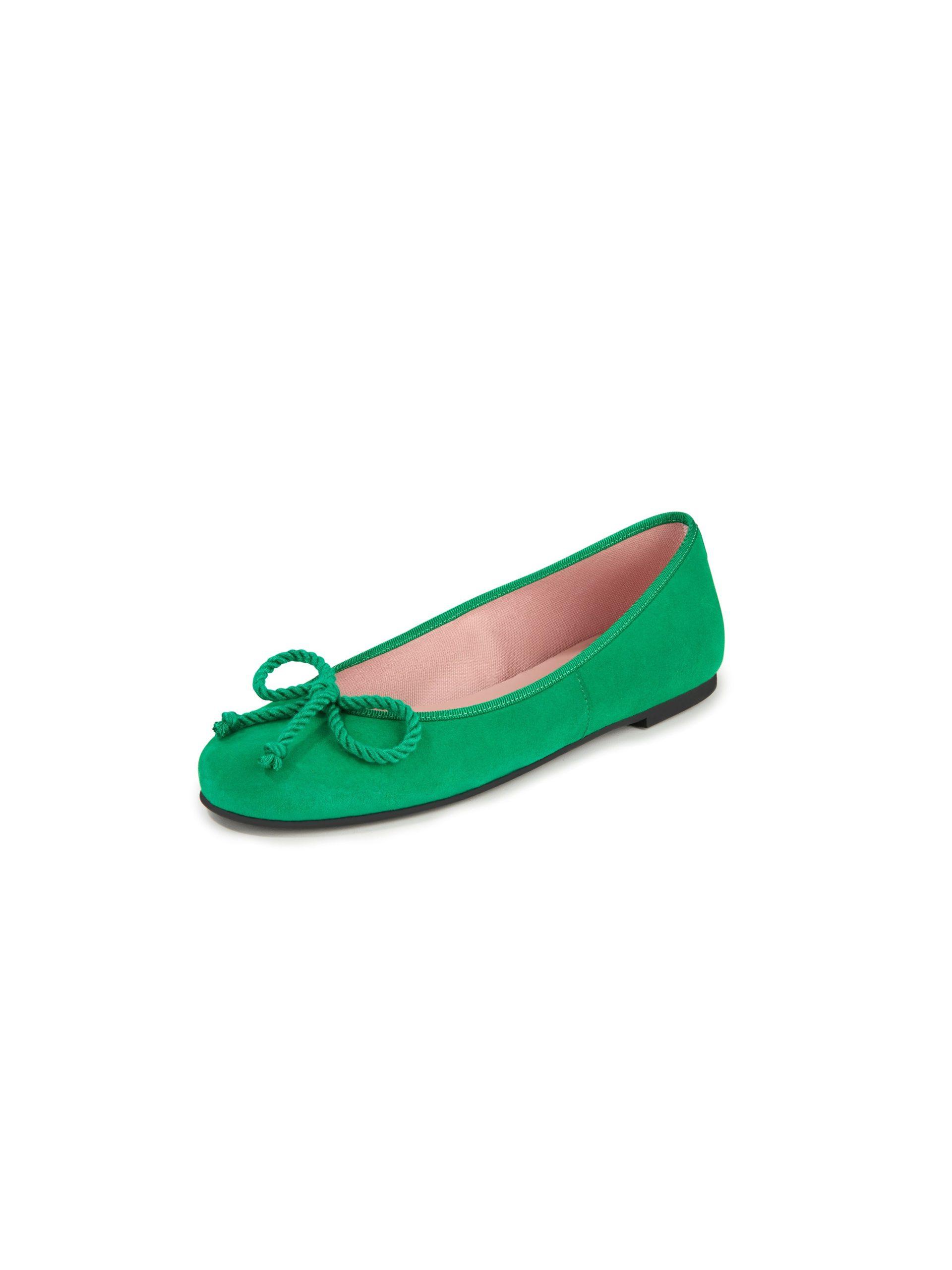 Ballerina's van geitensuèdeleer Van Pretty Ballerinas groen Kopen