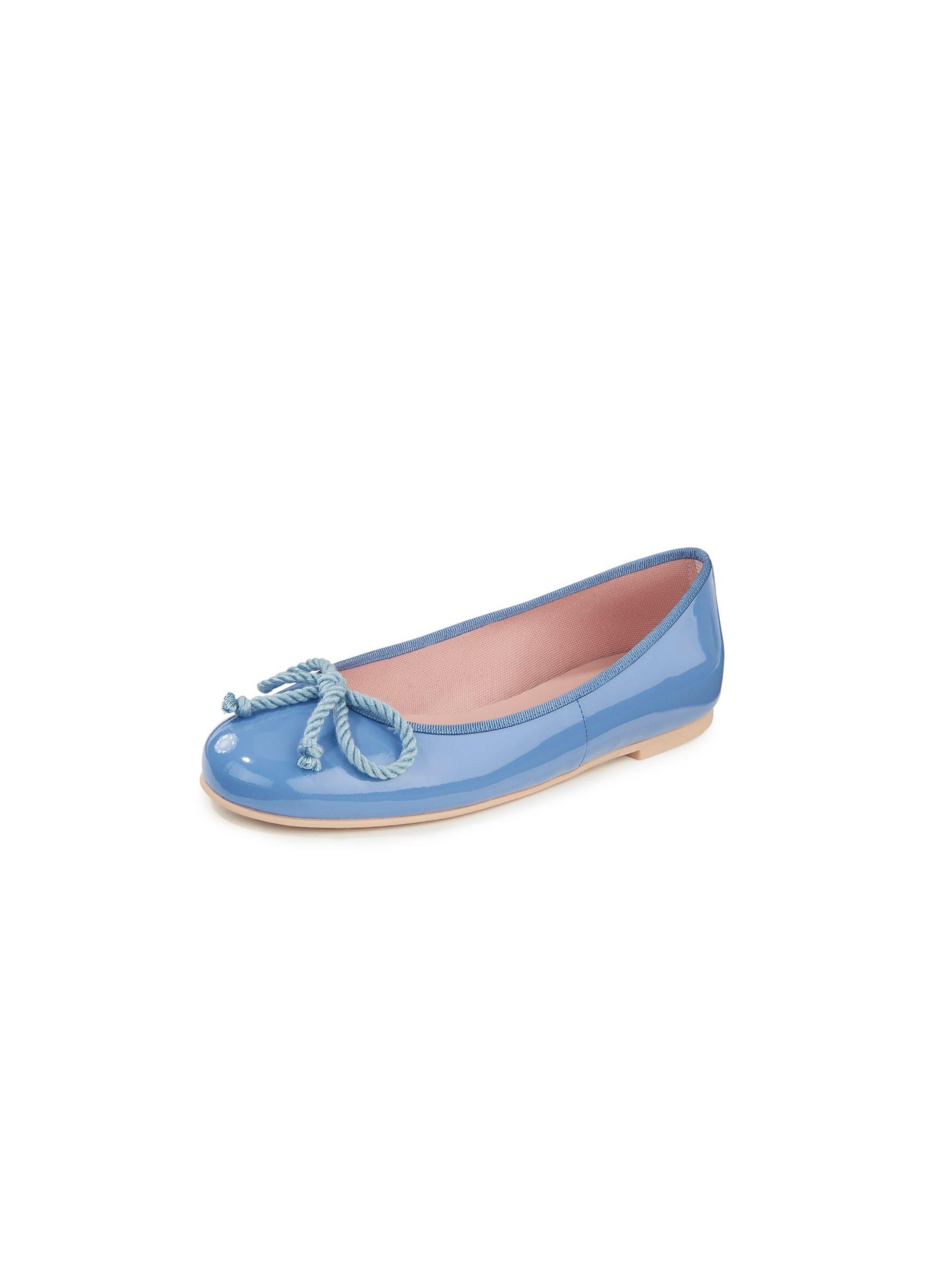 Ballerina's van kalfslakleer Van Pretty Ballerinas blauw Kopen