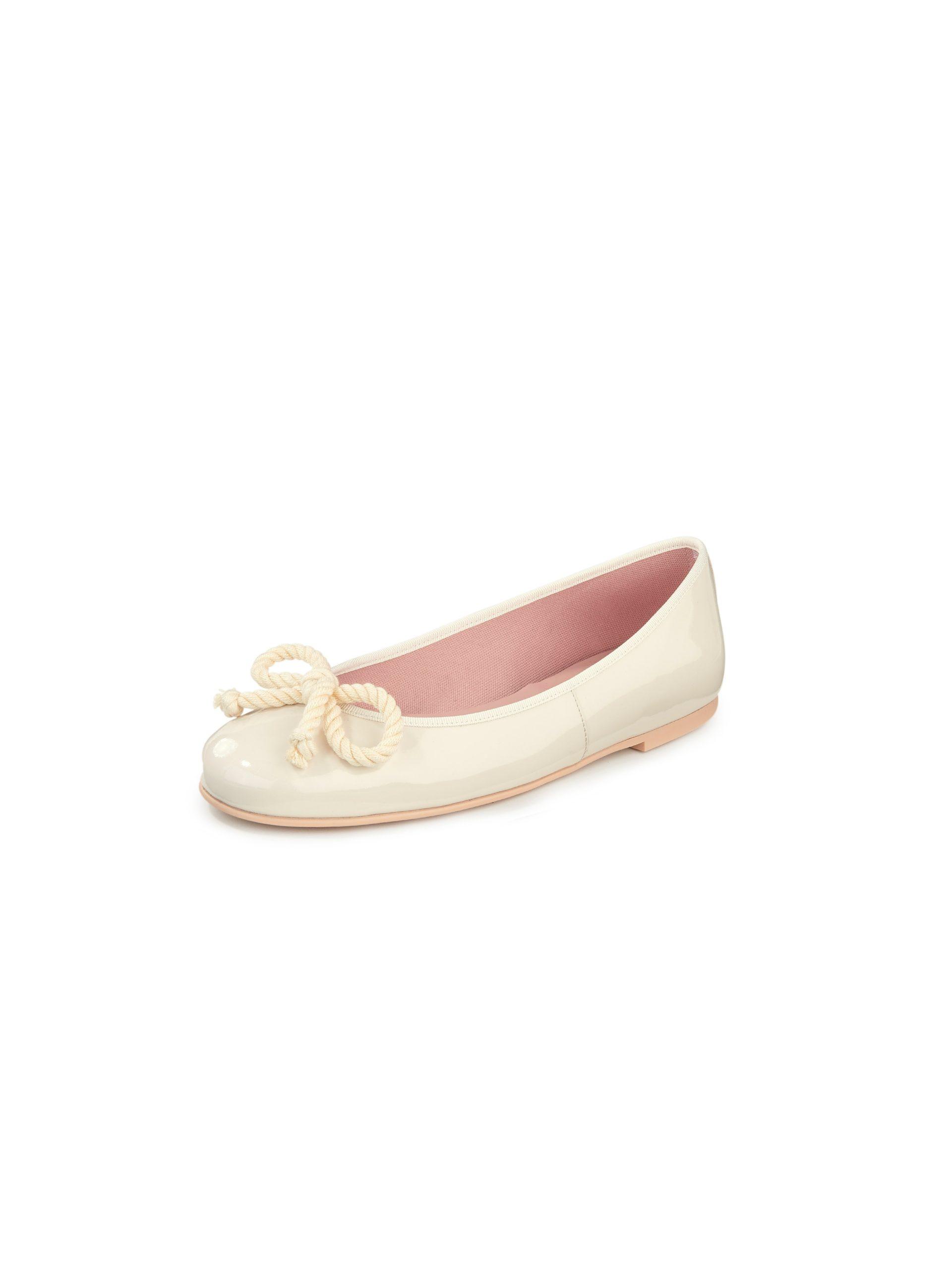 Ballerina's van kalfslakleer Van Pretty Ballerinas wit Kopen