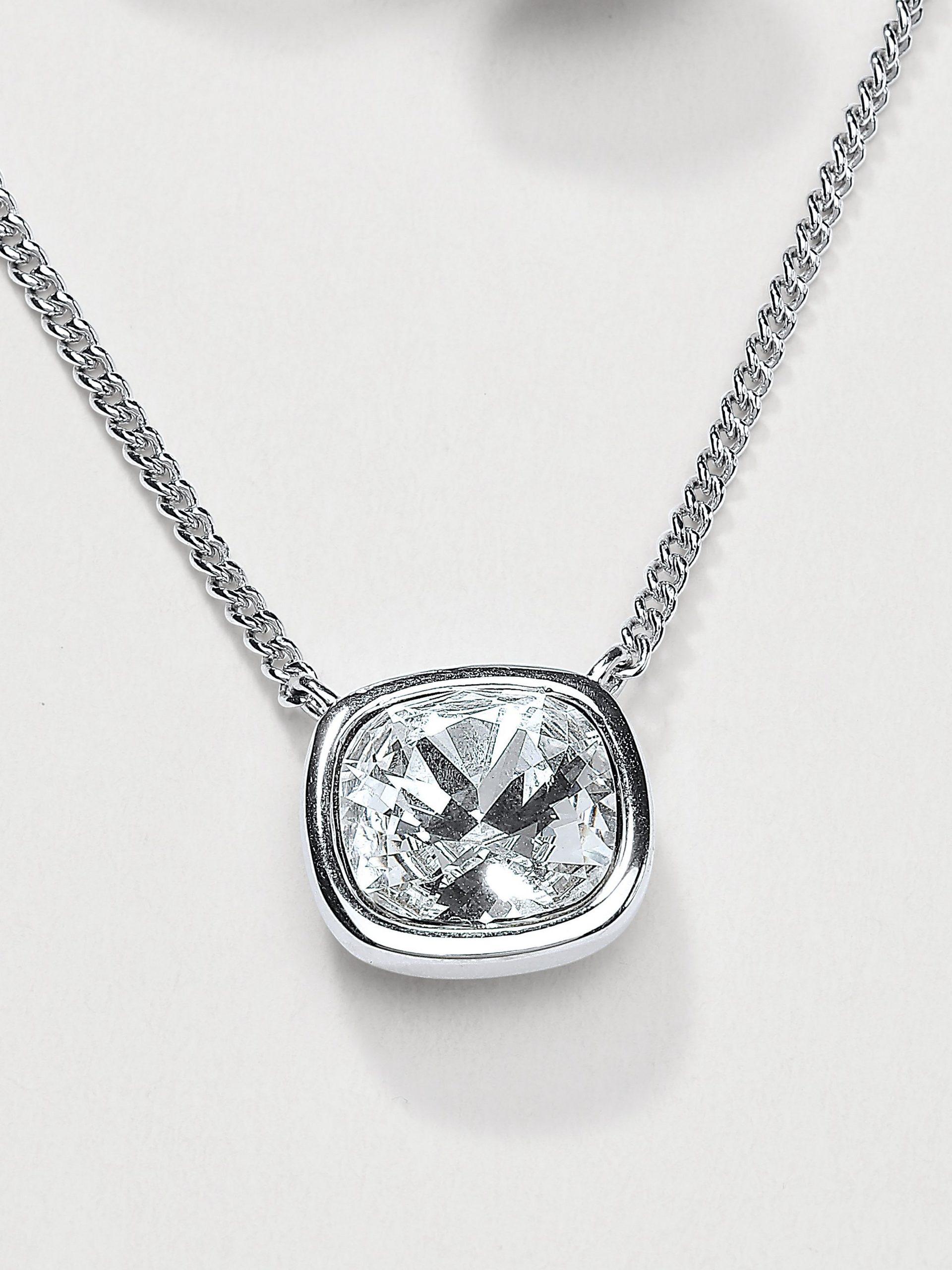 Ketting met kristal van Swarovski® Van Uta Raasch zilverkleur Kopen