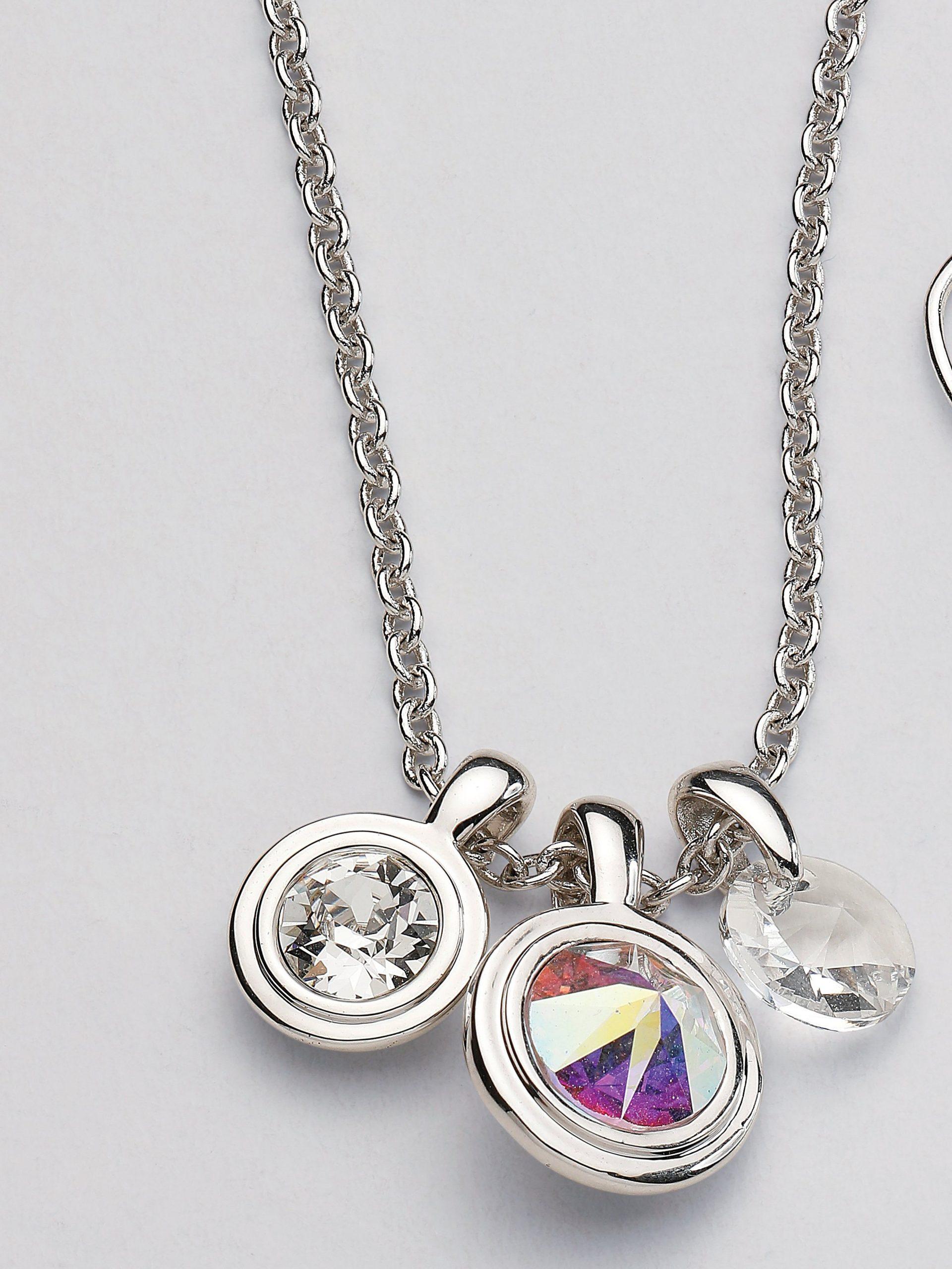 Ketting met kristallen van Swarovski® Van Uta Raasch zilverkleur Kopen