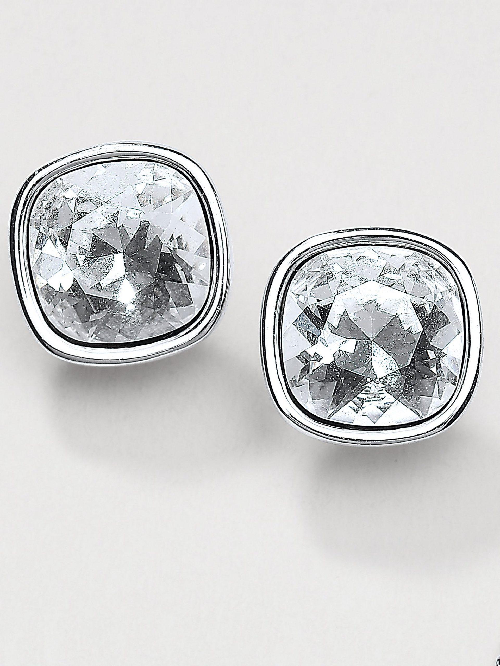 Oorstekers met kristallen van Swarovski® Van Uta Raasch zilverkleur Kopen