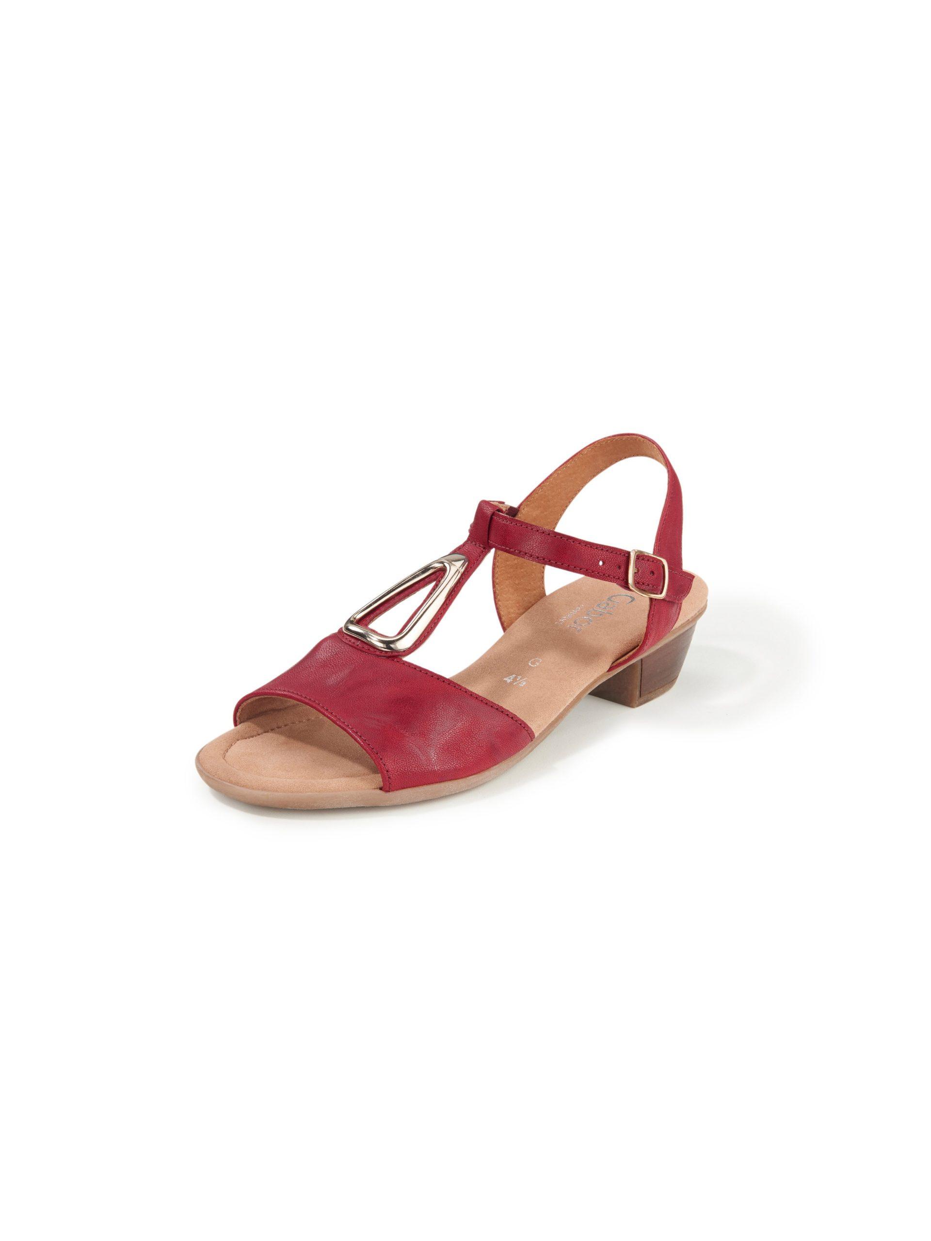 Sandaaltjes van leer Van Gabor Comfort rood Kopen