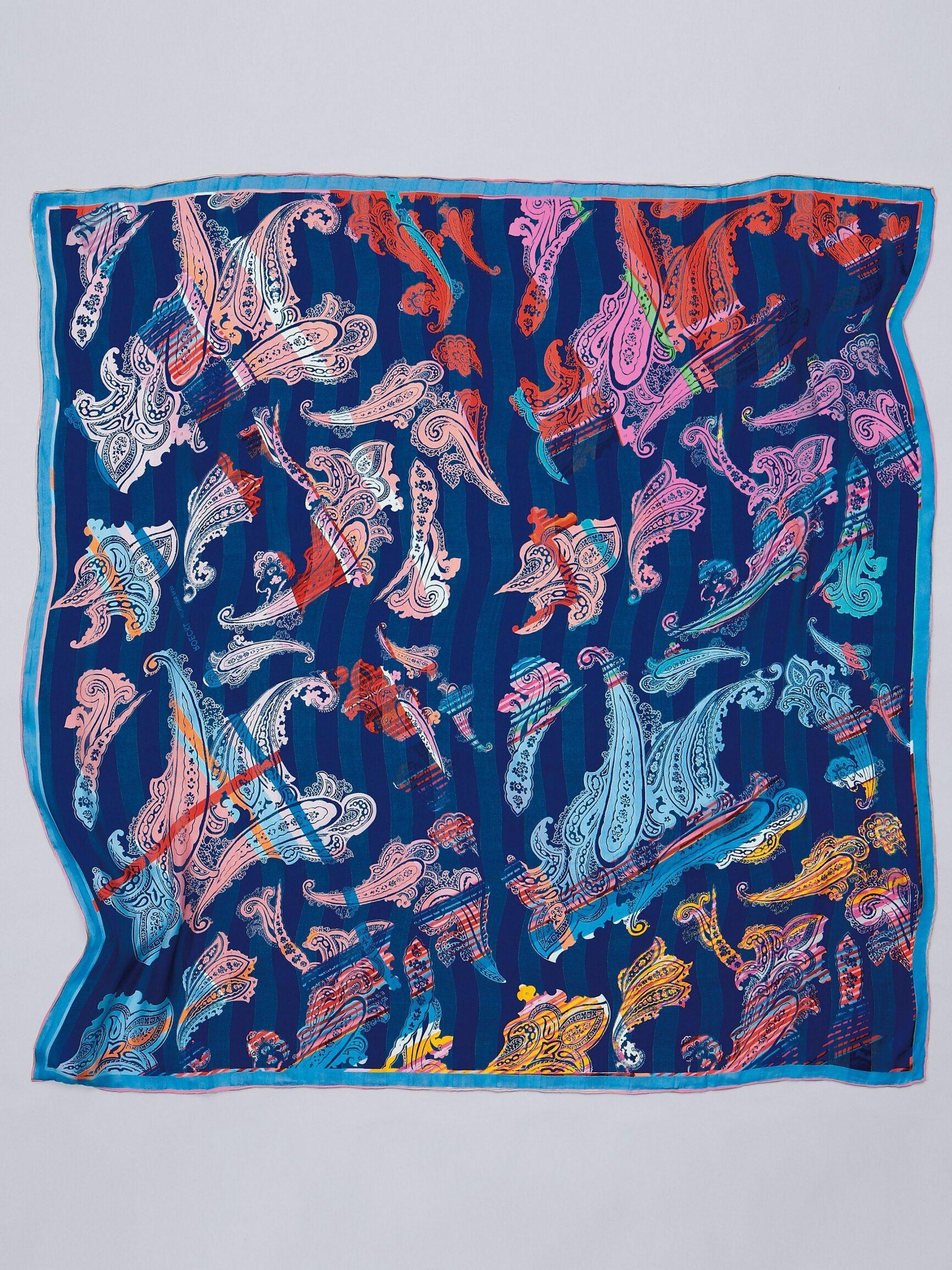 Sjaaltje van 100% zijde met paisley-ornamenten Van Roeckl blauw Kopen