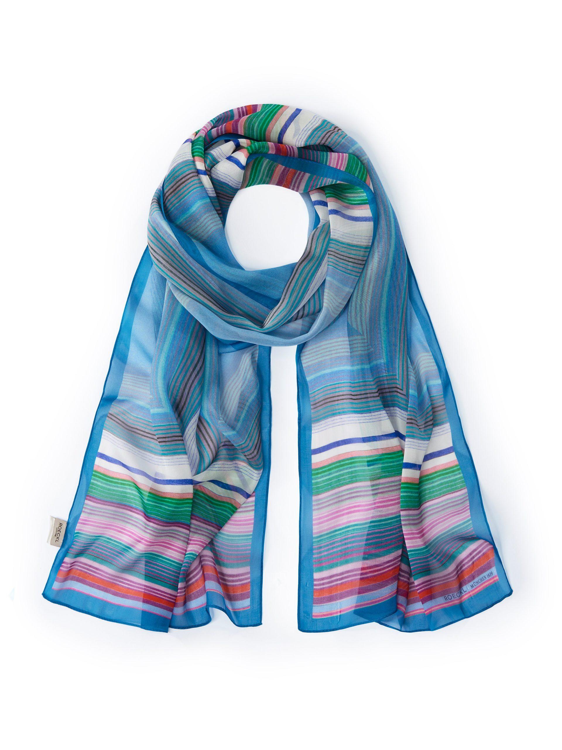 Sjaal van 100% zijde Van Roeckl blauw Kopen