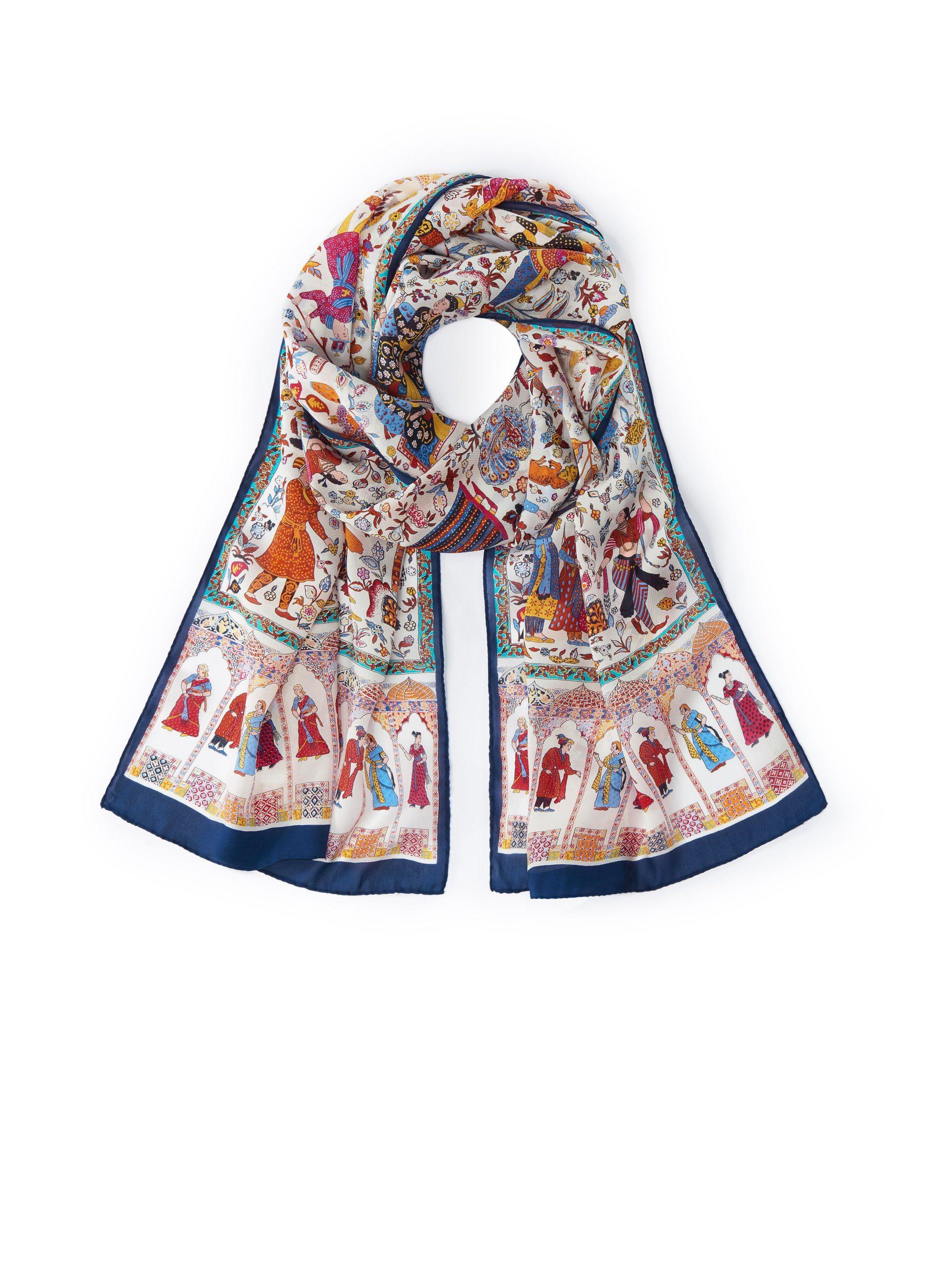 Sjaal 'Egyptenaren' van 100% zijde Van Roeckl multicolour Kopen