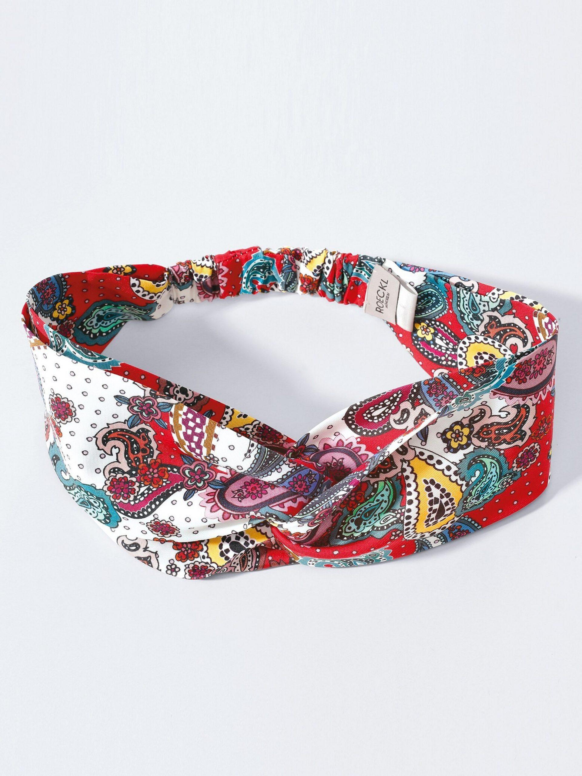 Hoofdband van 100% zijde Van Roeckl multicolour Kopen
