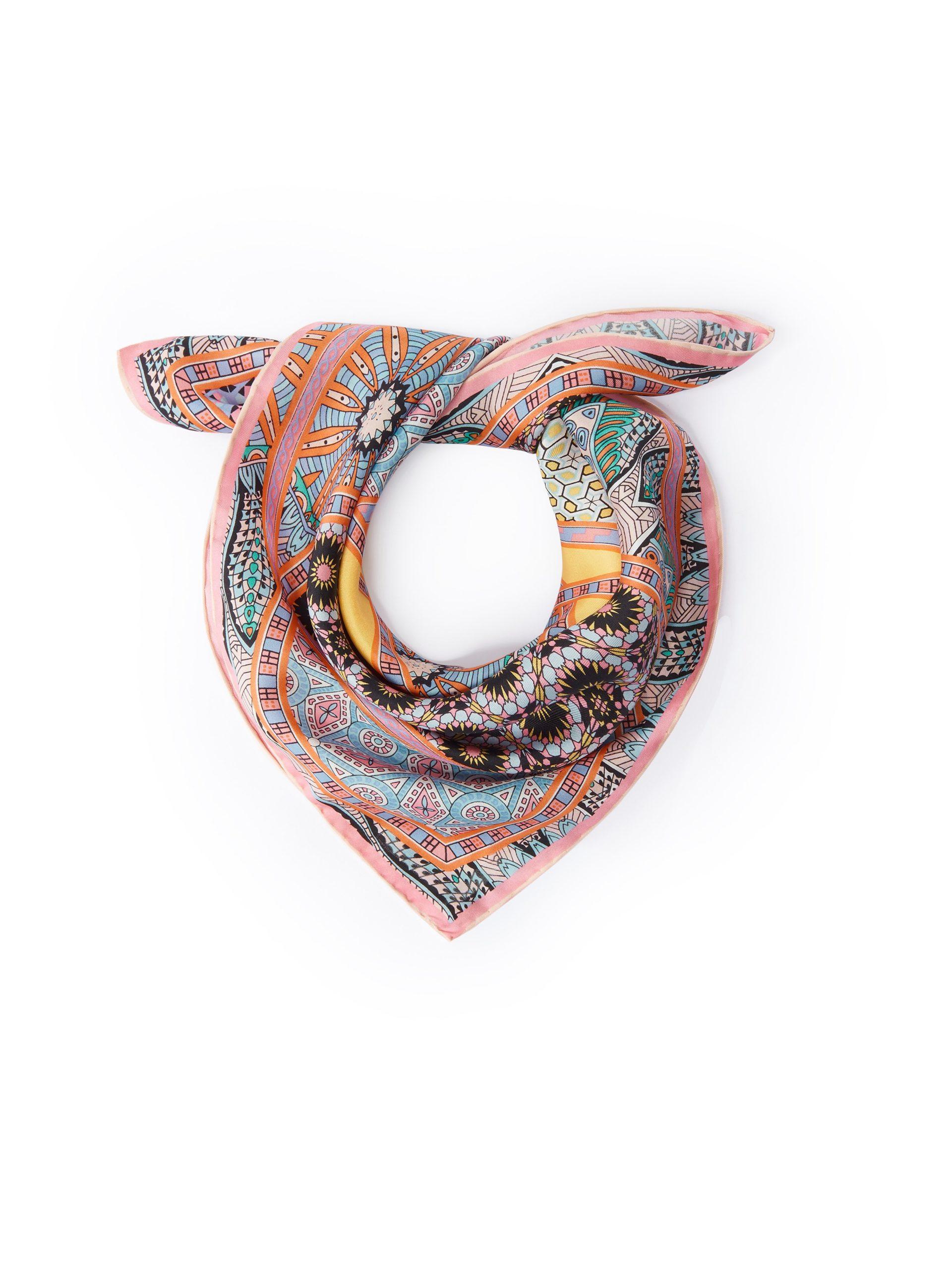 Nickysjaal van 100% zijde Van Roeckl multicolour Kopen