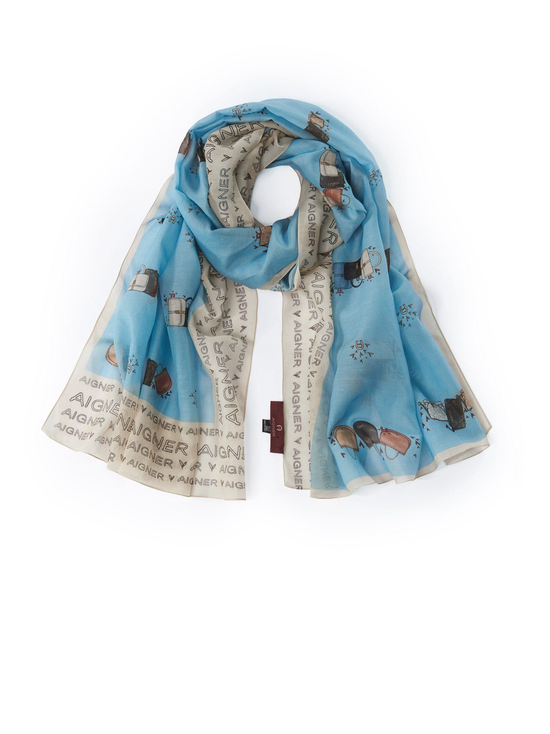 Sjaal met originele print Van Aigner multicolour Kopen