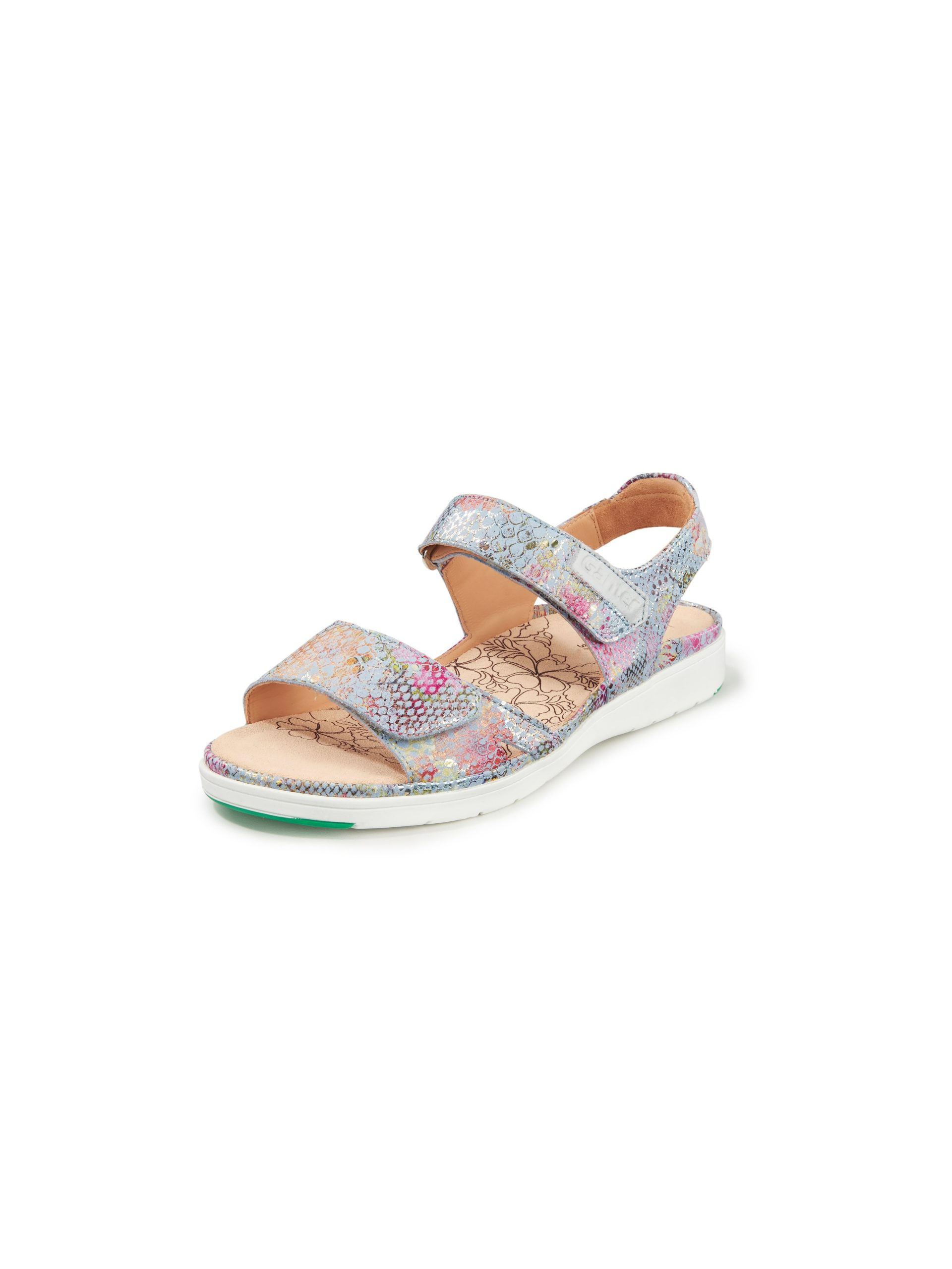 Sandalen van kalfsnubuckleer Van Ganter multicolour Kopen