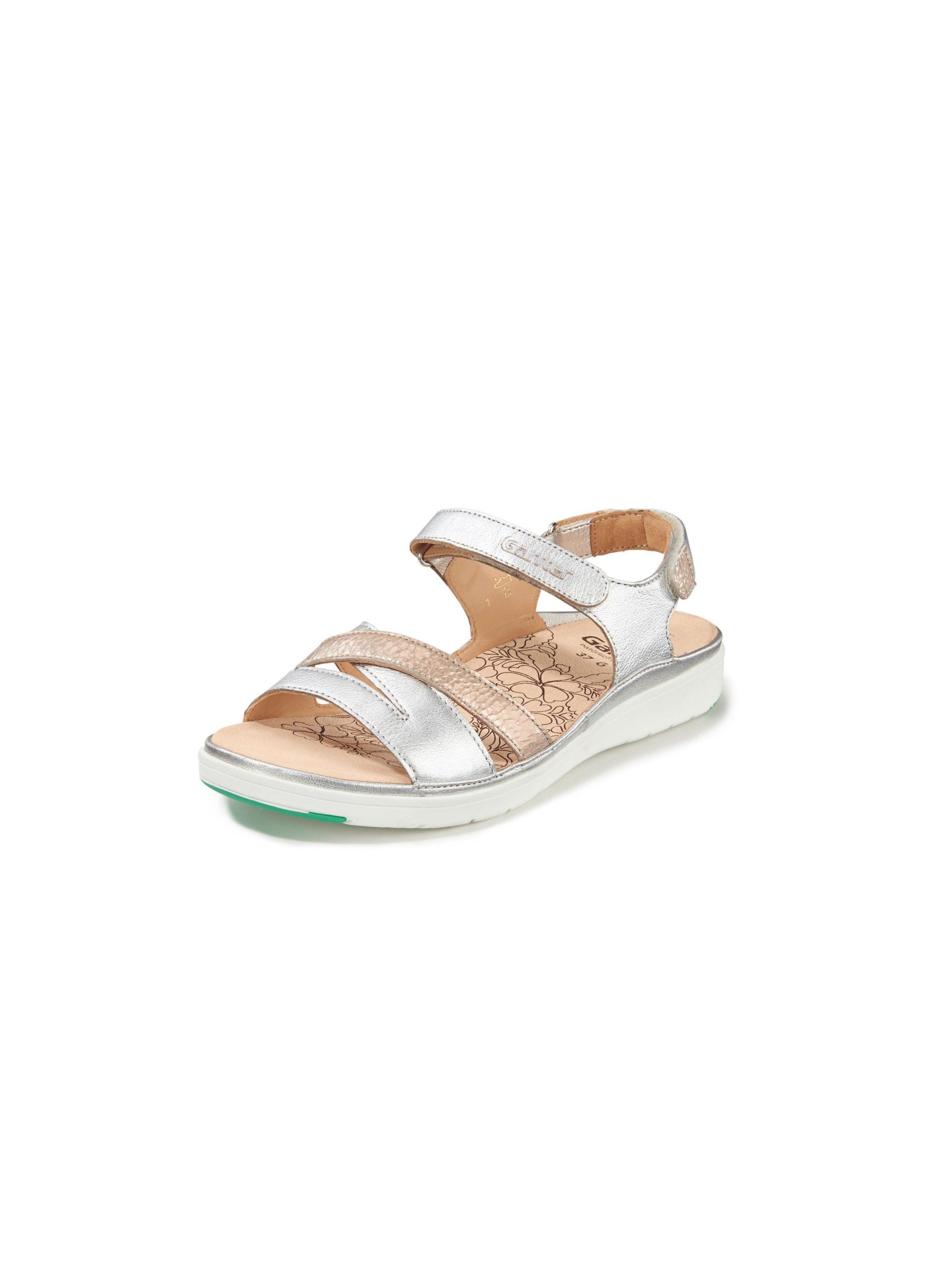 Sandalen van kalfsnappaleer Van Ganter zilverkleur Kopen