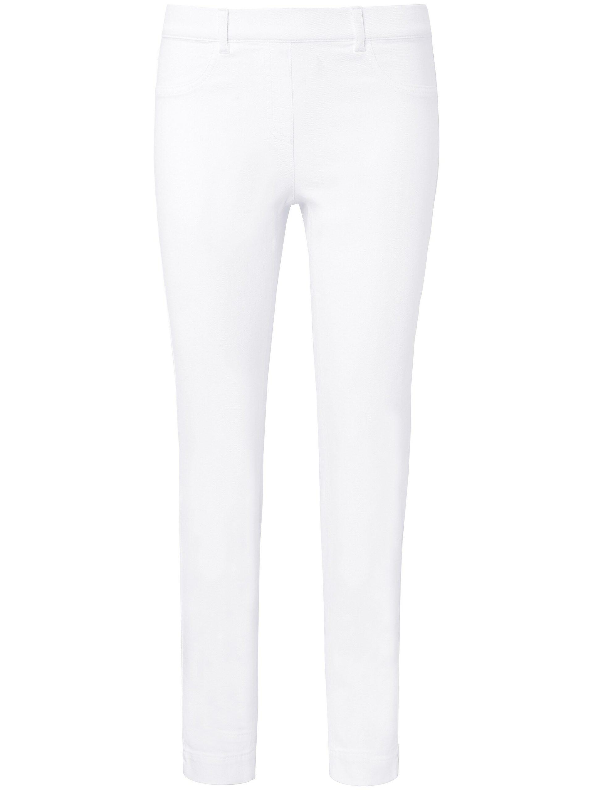 Enkellange jeans pasvorm Sylvia met ritssluiting Van Peter Hahn wit Kopen