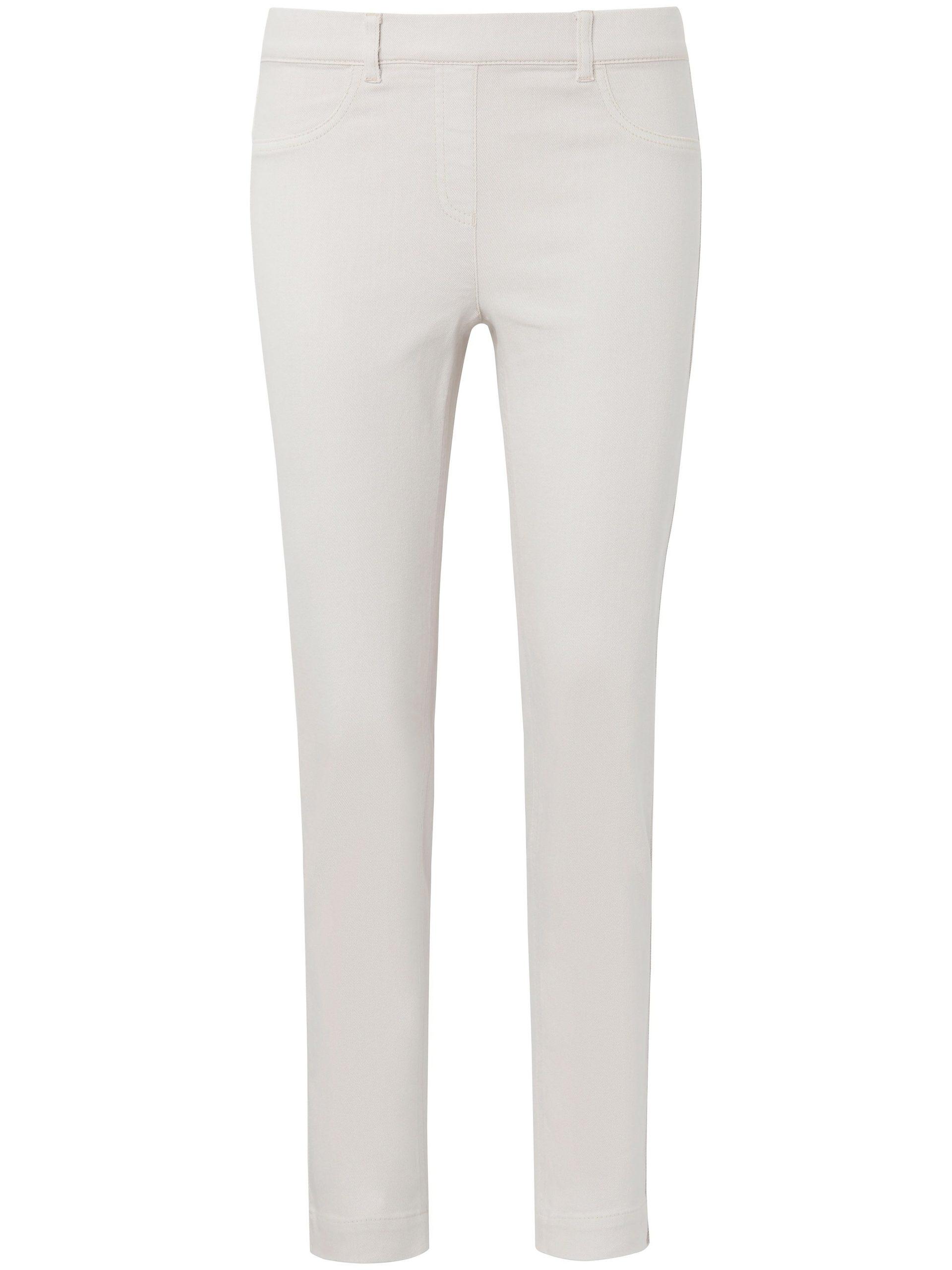 Enkellange jeans pasvorm Sylvia met ritssluiting Van Peter Hahn denim Kopen