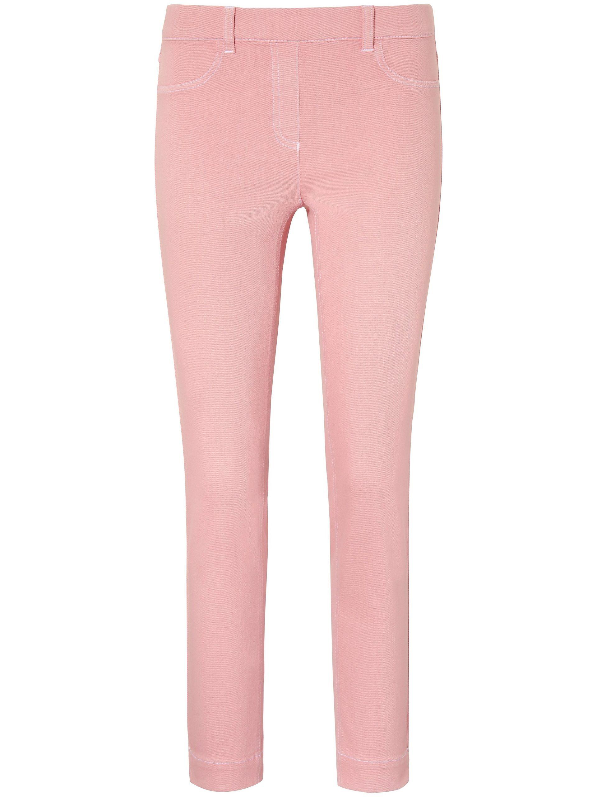 Enkellange jeans pasvorm Sylvia met ritssluiting Van Peter Hahn lichtroze Kopen