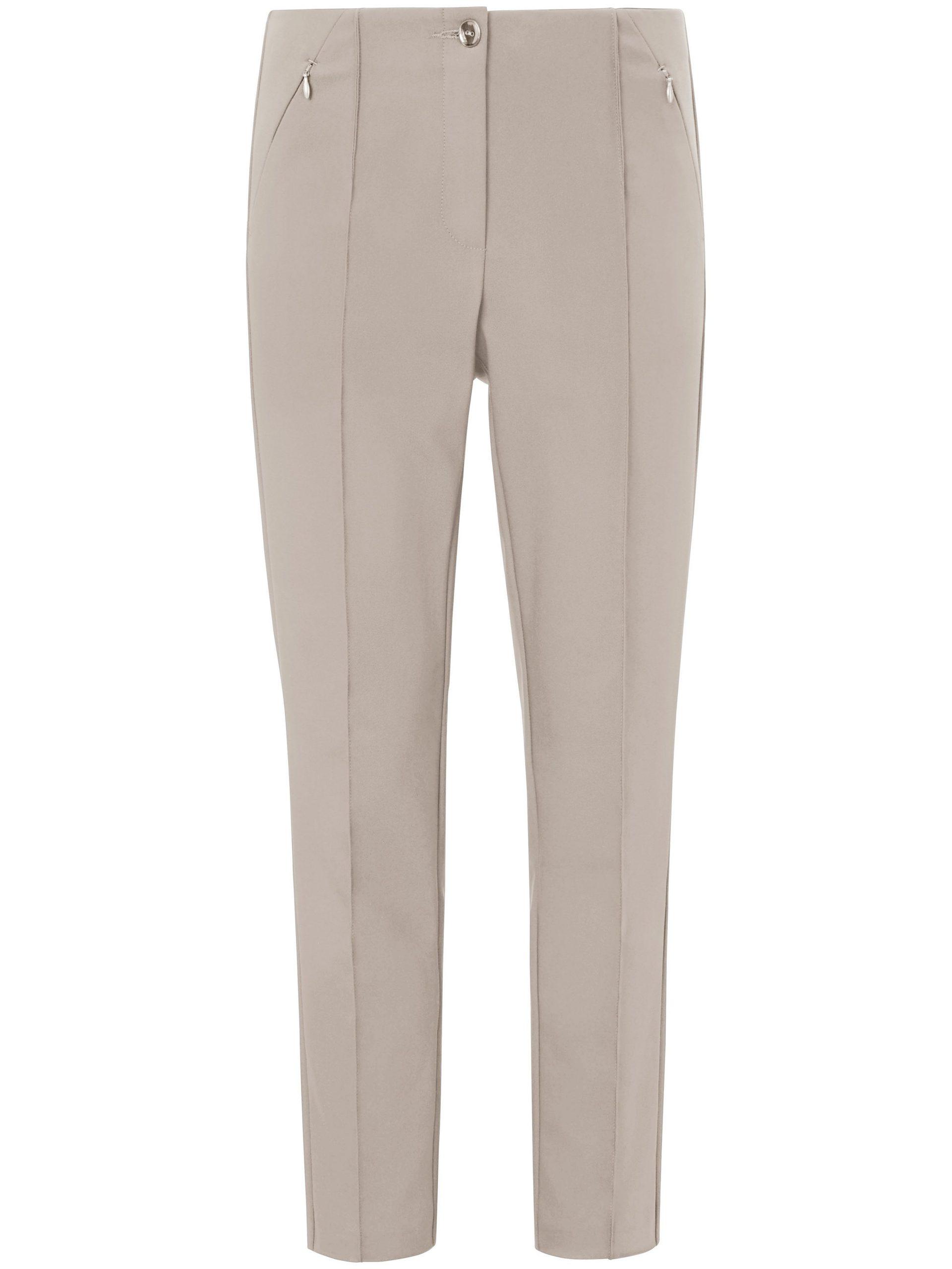 Enkellange broek in smal model Van Fadenmeister Berlin grijs Kopen