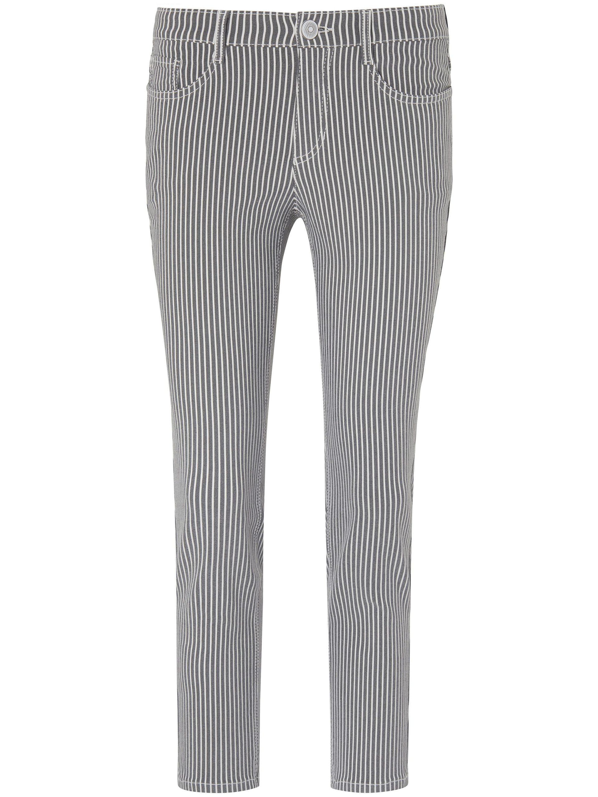 7/8-broek pasvorm Sylvia met lengtestrepen Van Peter Hahn multicolour Kopen