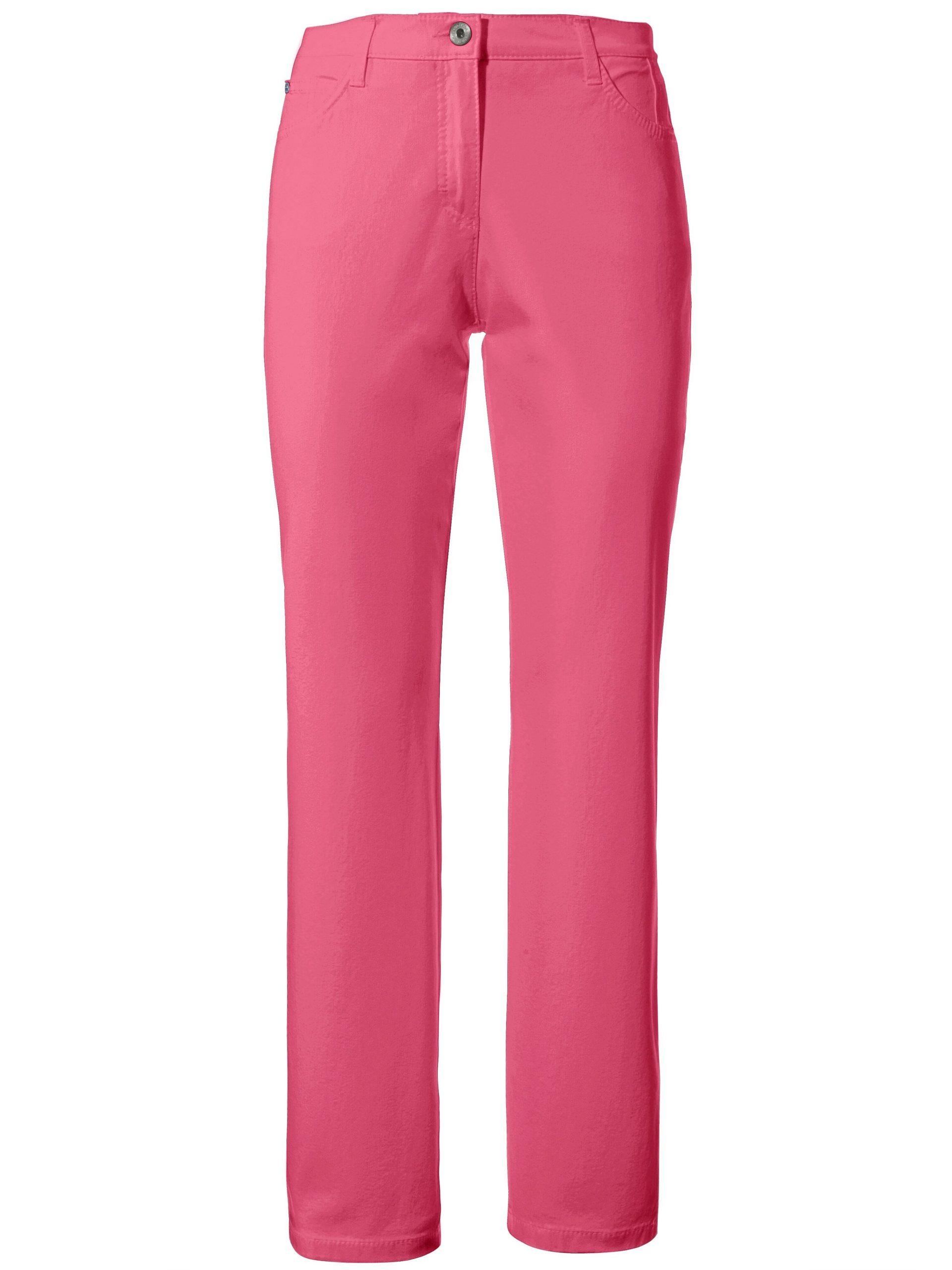 Feminine fit broek model Nicola van PIMA COTTON Van Brax Feel Good lichtroze Kopen