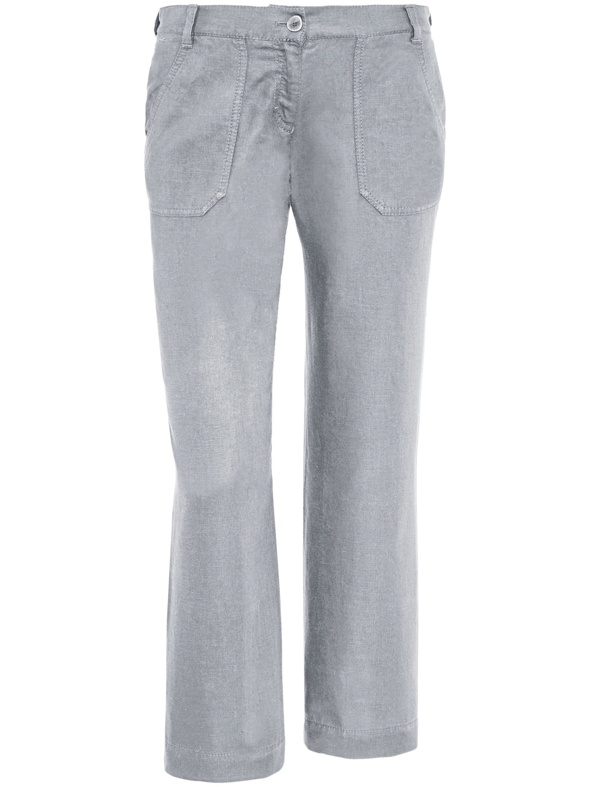 7/8-broek model maine sport van 100% linnen Van Brax Feel Good grijs Kopen