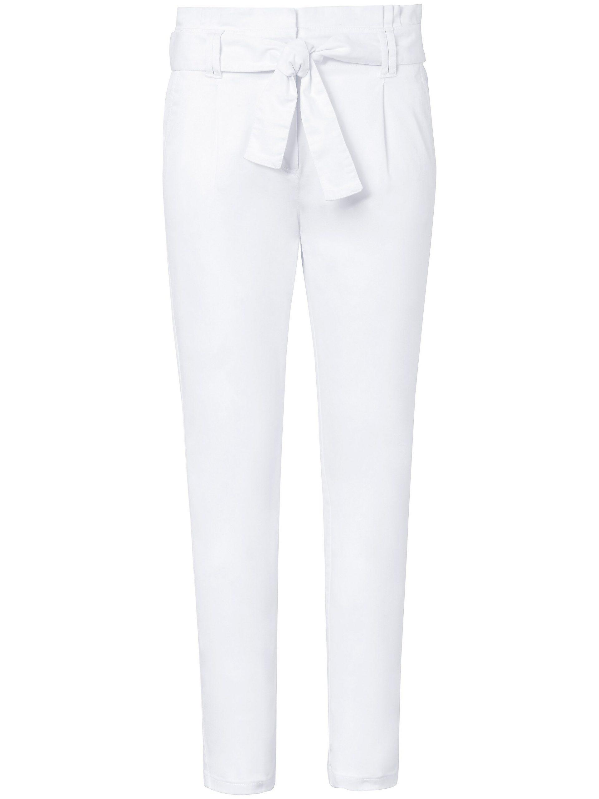 Enkellange broek pasvorm Barbara Van MYBC wit Kopen