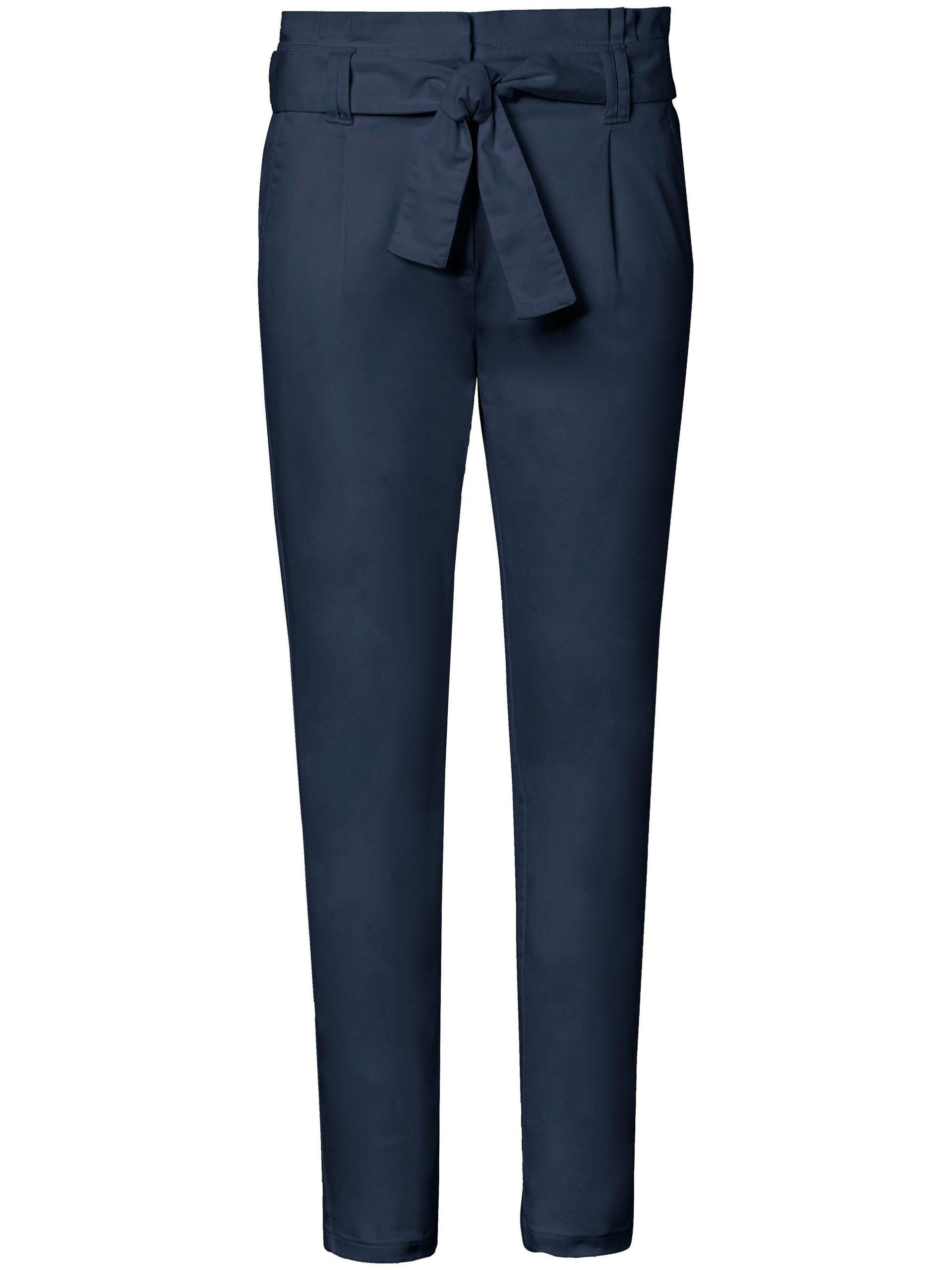 Enkellange broek pasvorm Barbara Van MYBC blauw Kopen