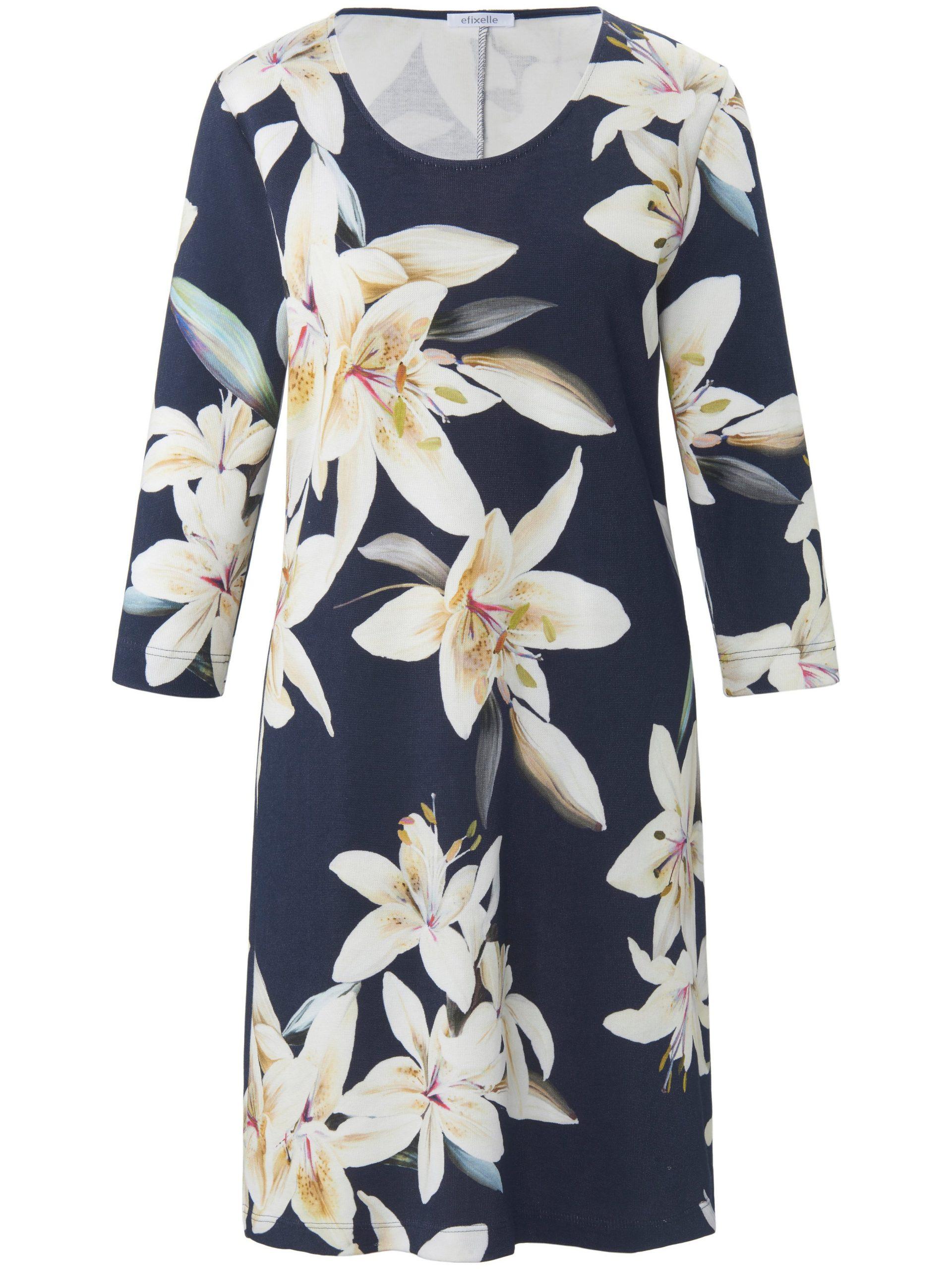 gebreide jurk met 3/4-mouwen Van Efixelle multicolour Kopen
