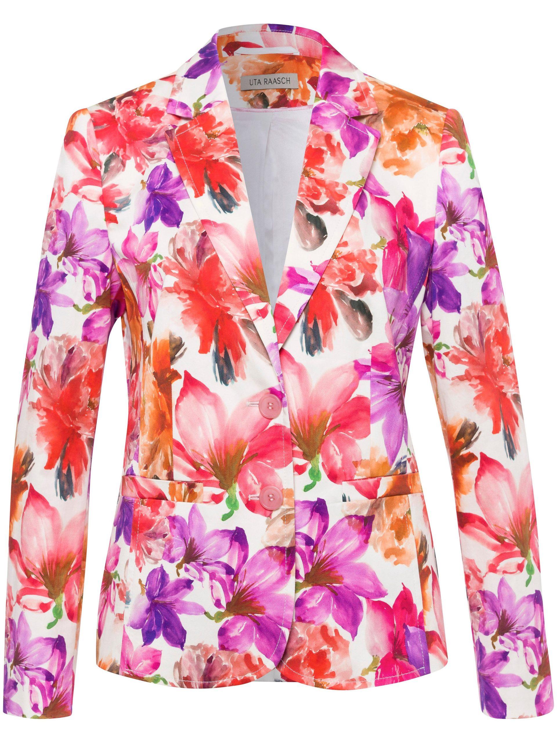 Blazer bloemenprint Van Uta Raasch multicolour Kopen