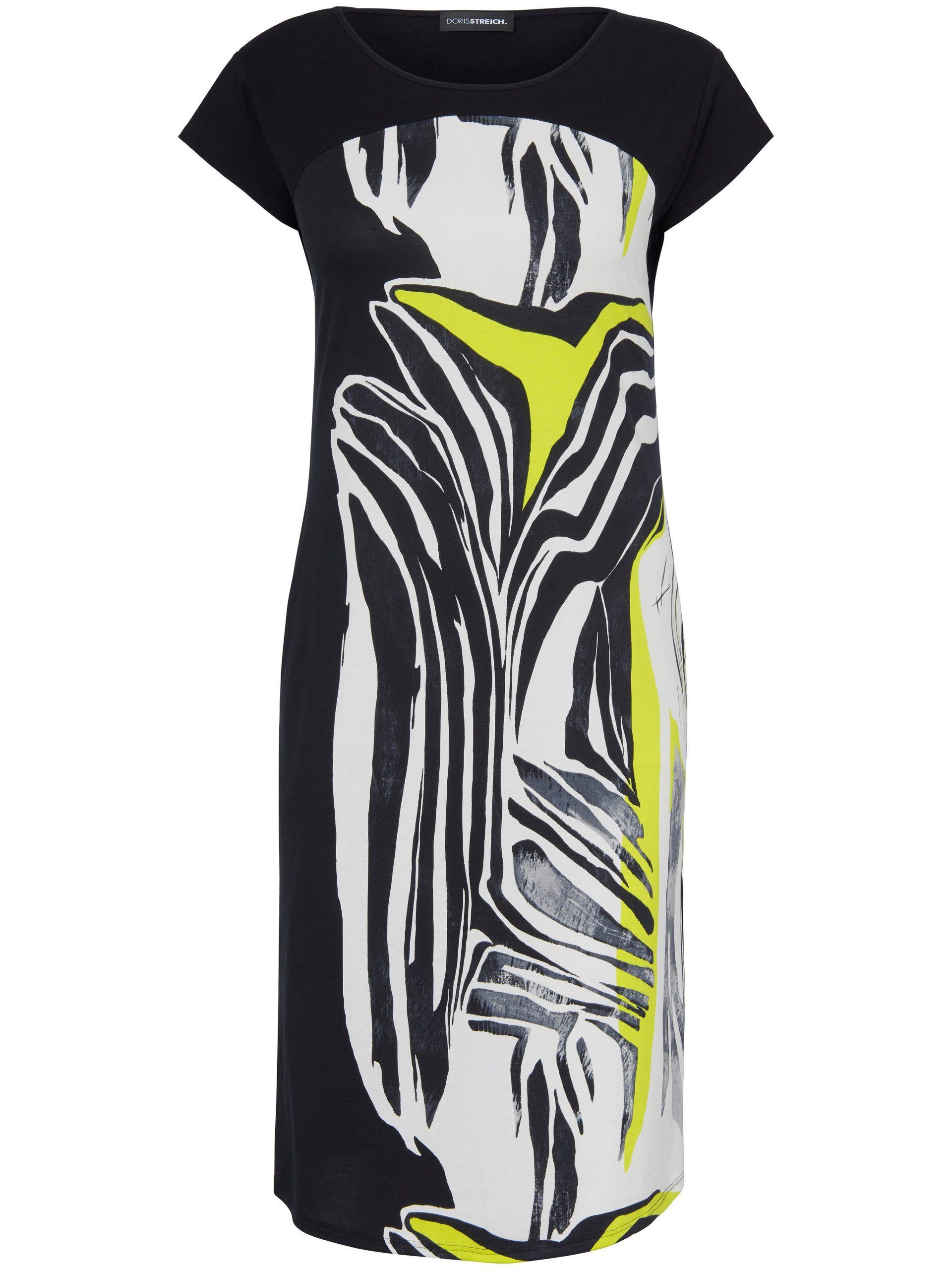 Jerseyjurk met aangeknipte mouwen en vachtprint Van Doris Streich multicolour Kopen