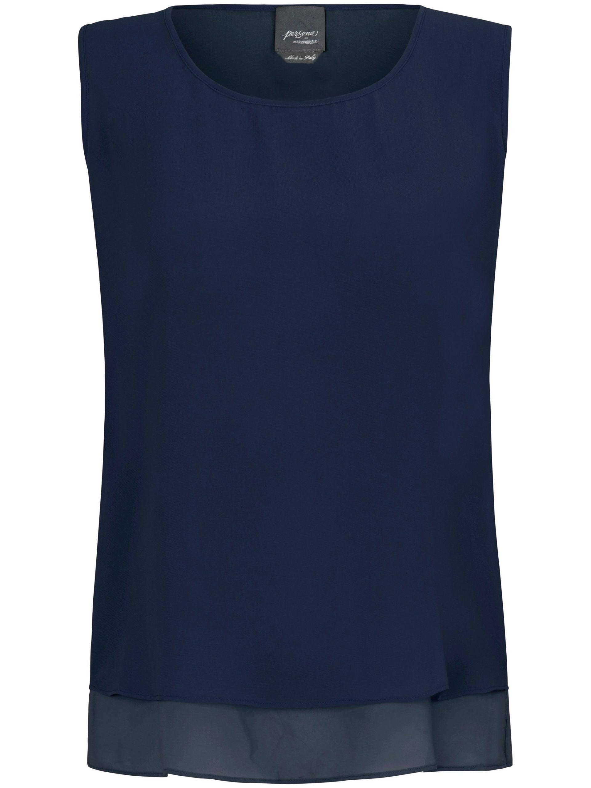 Mouwloze top met ronde hals Van Persona by Marina Rinaldi blauw Kopen
