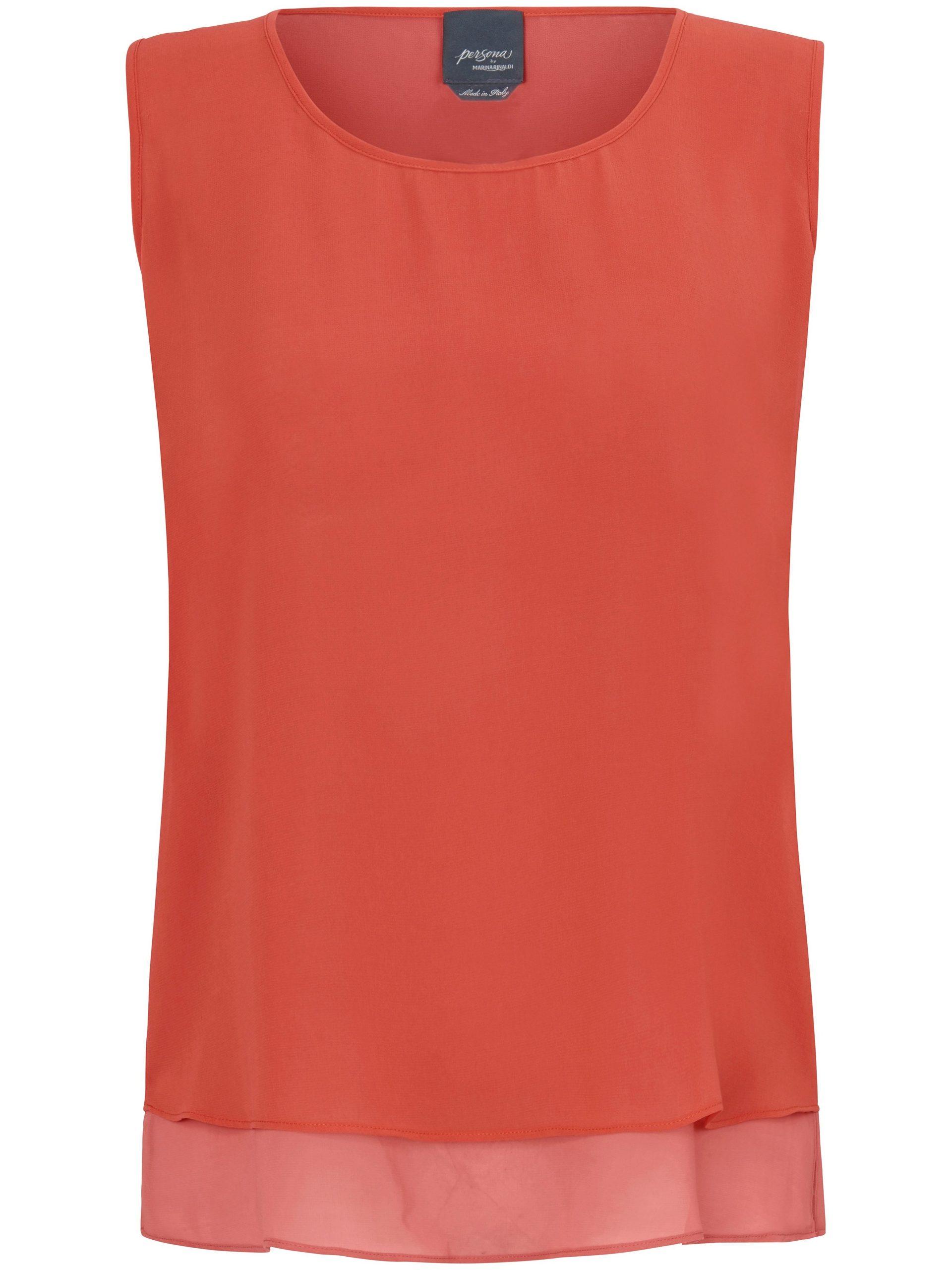 Mouwloze top met ronde hals Van Persona by Marina Rinaldi oranje Kopen