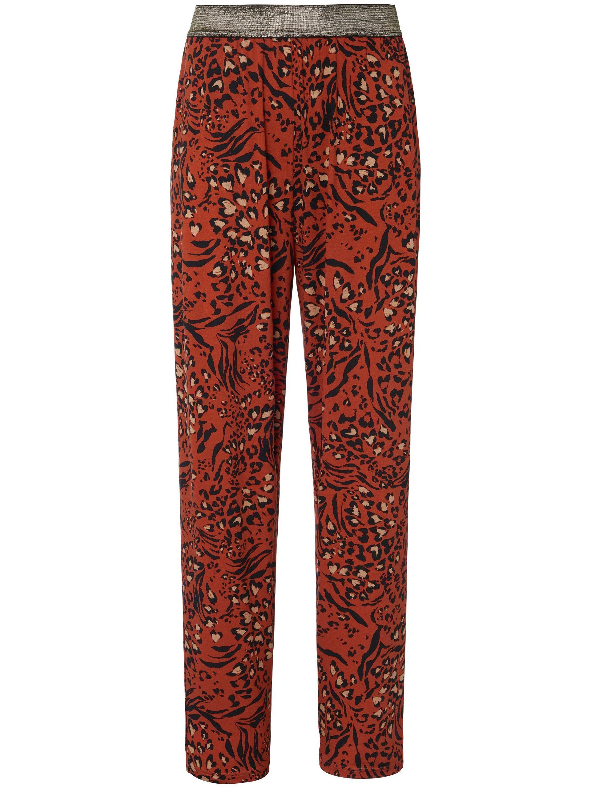 Jerseybroek in comfortmodel met elastische band Van Peter Hahn multicolour Kopen