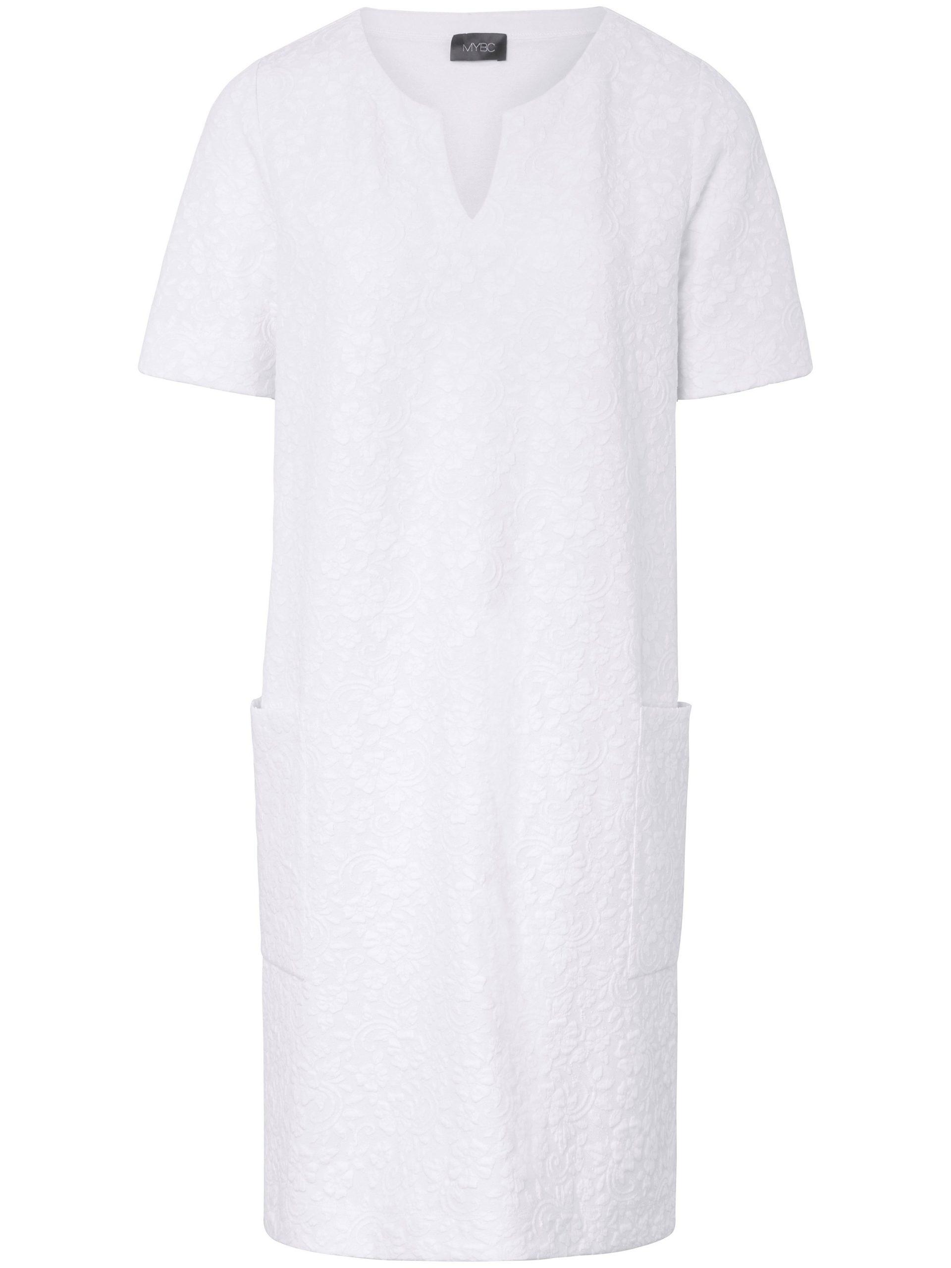 Jerseyjurk met korte mouwen Van MYBC wit Kopen