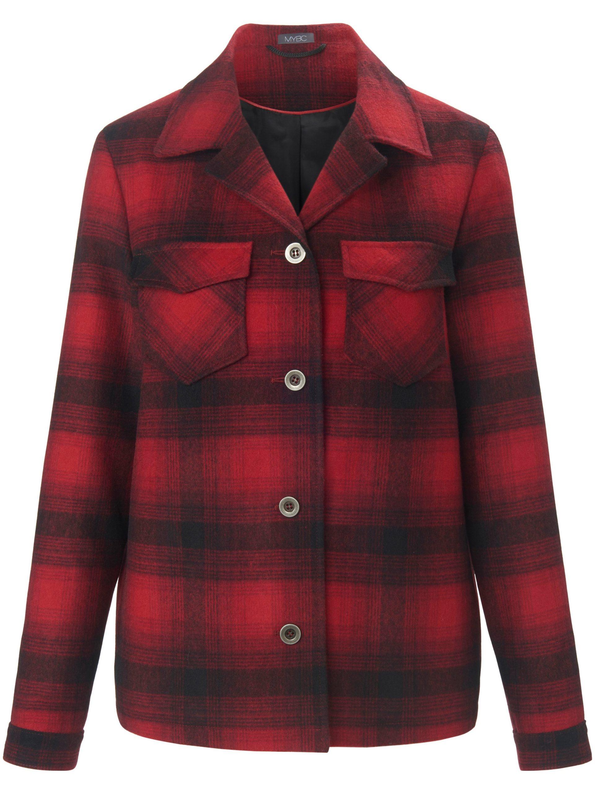 Outdoor-overhemdjasje in recht model Van MYBC rood Kopen