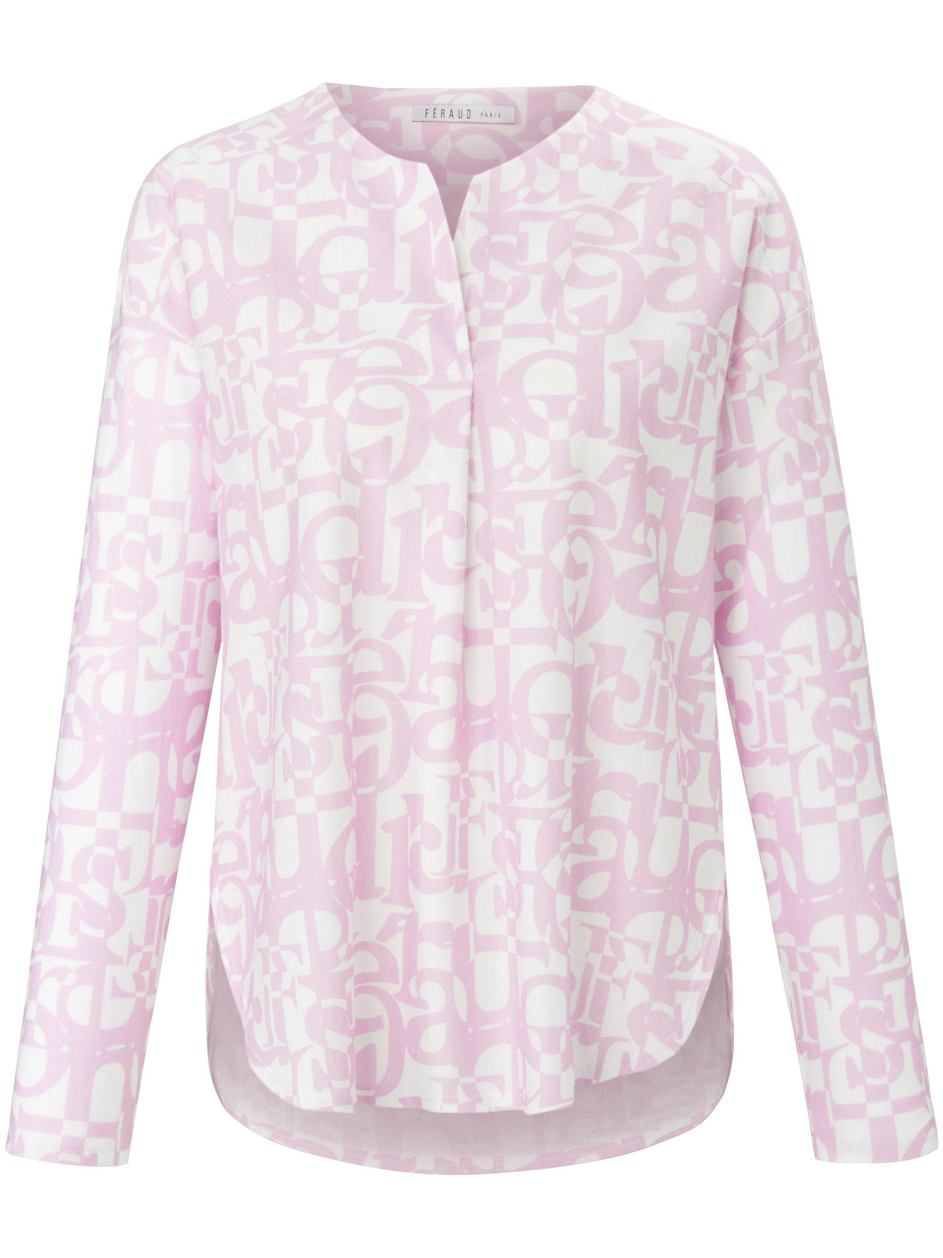 Pyjama van 100% katoen met letterprint Van Féraud paars Kopen