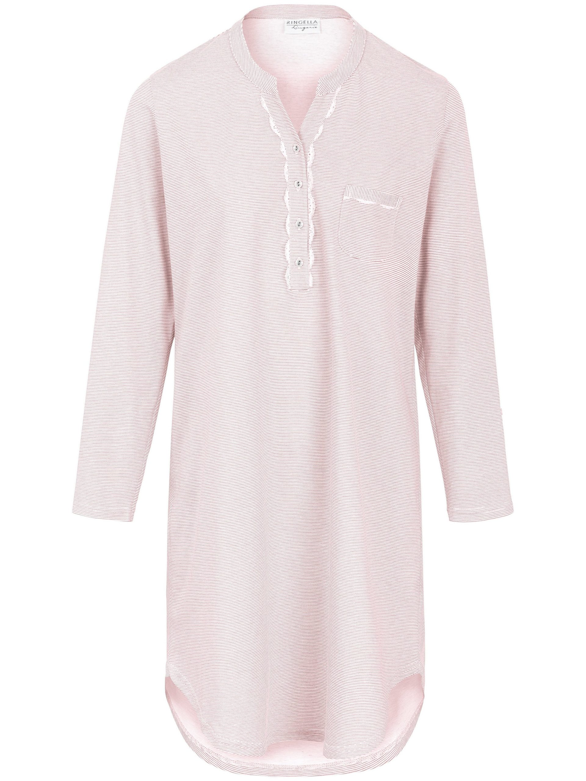 Nachthemd van 100% katoen met lange mouwen Van Ringella lichtroze Kopen