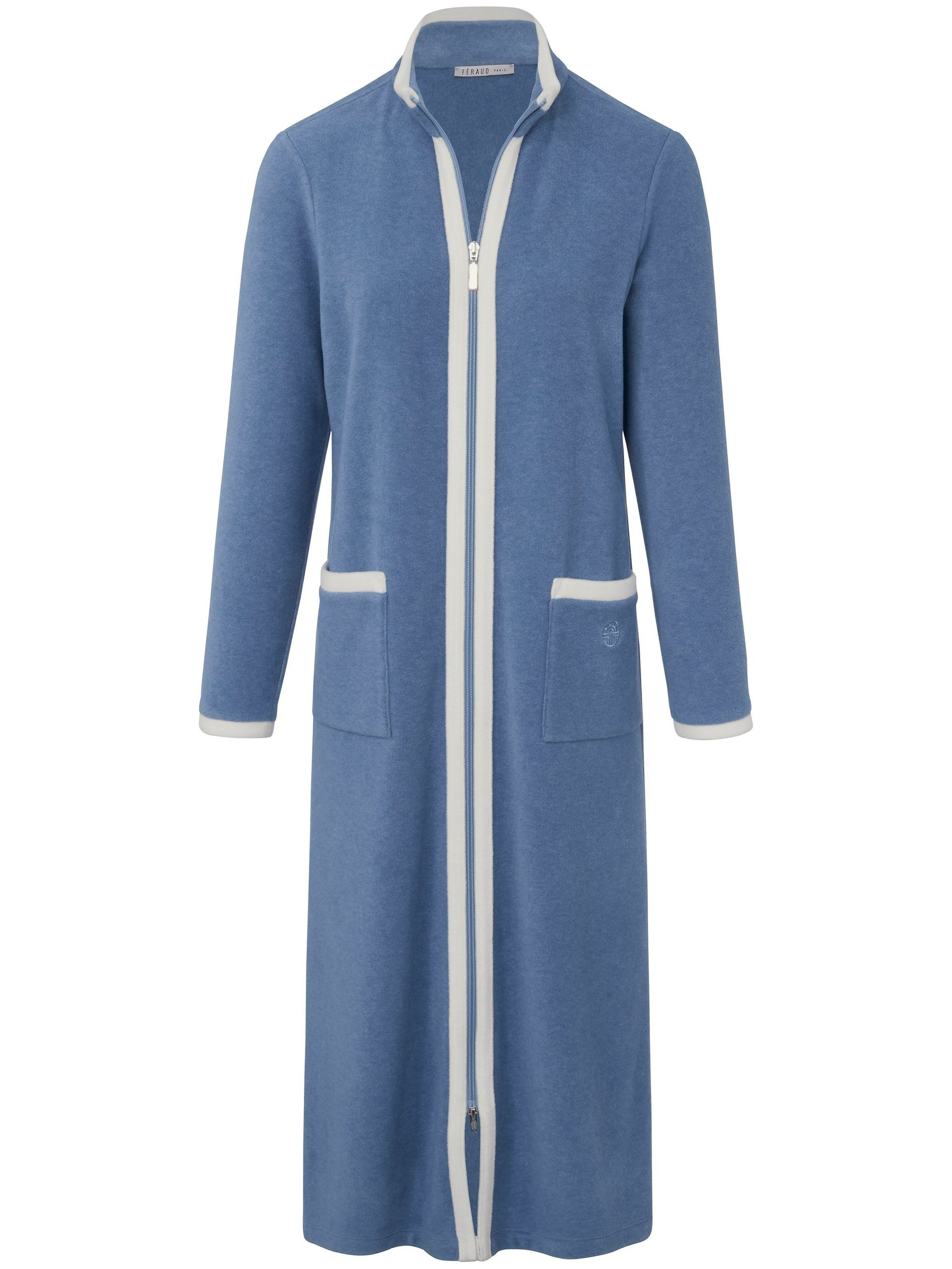 Fleece-ochtendjas Van Féraud blauw Kopen