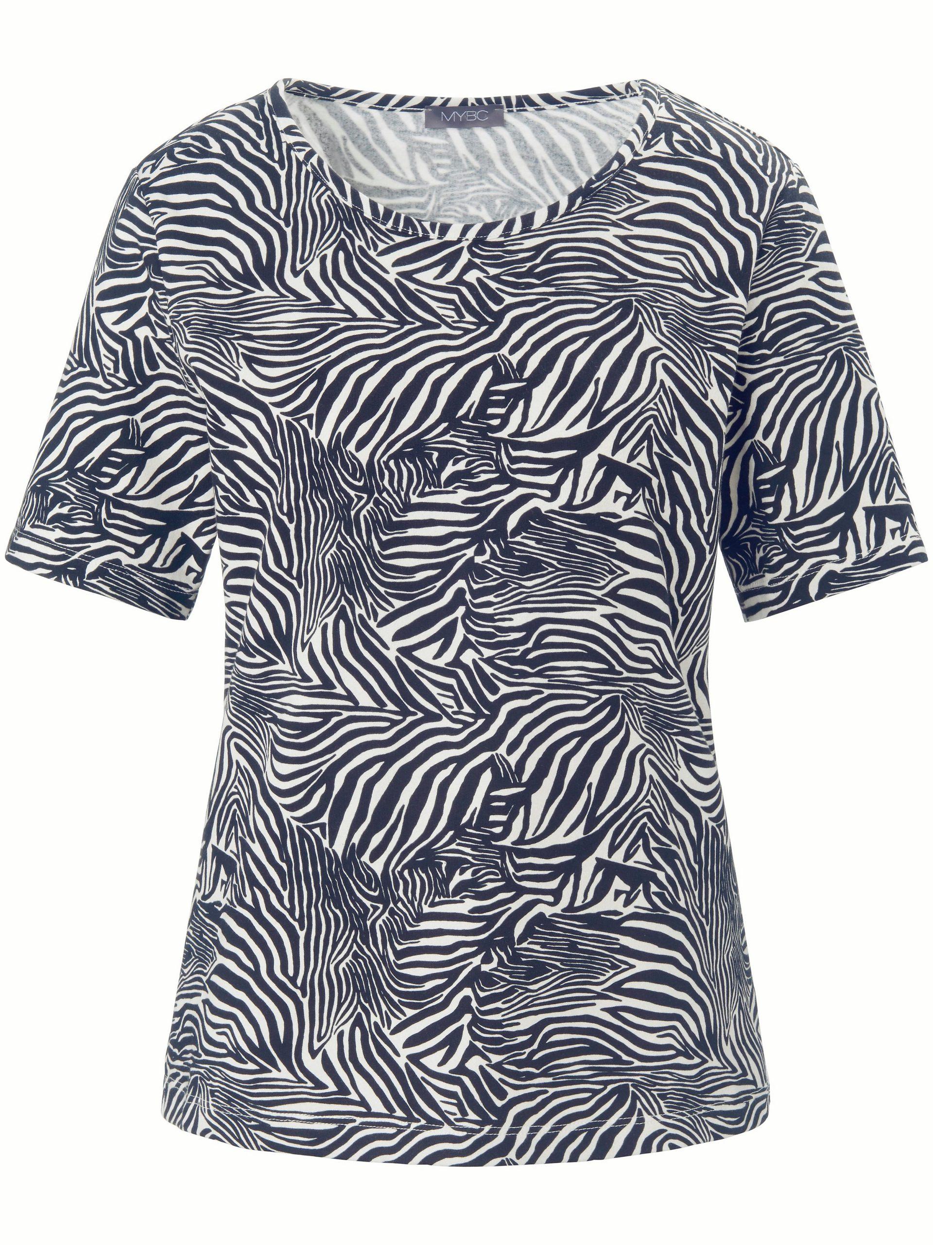 Shirt met ronde hals en korte mouwen Van MYBC zwart Kopen