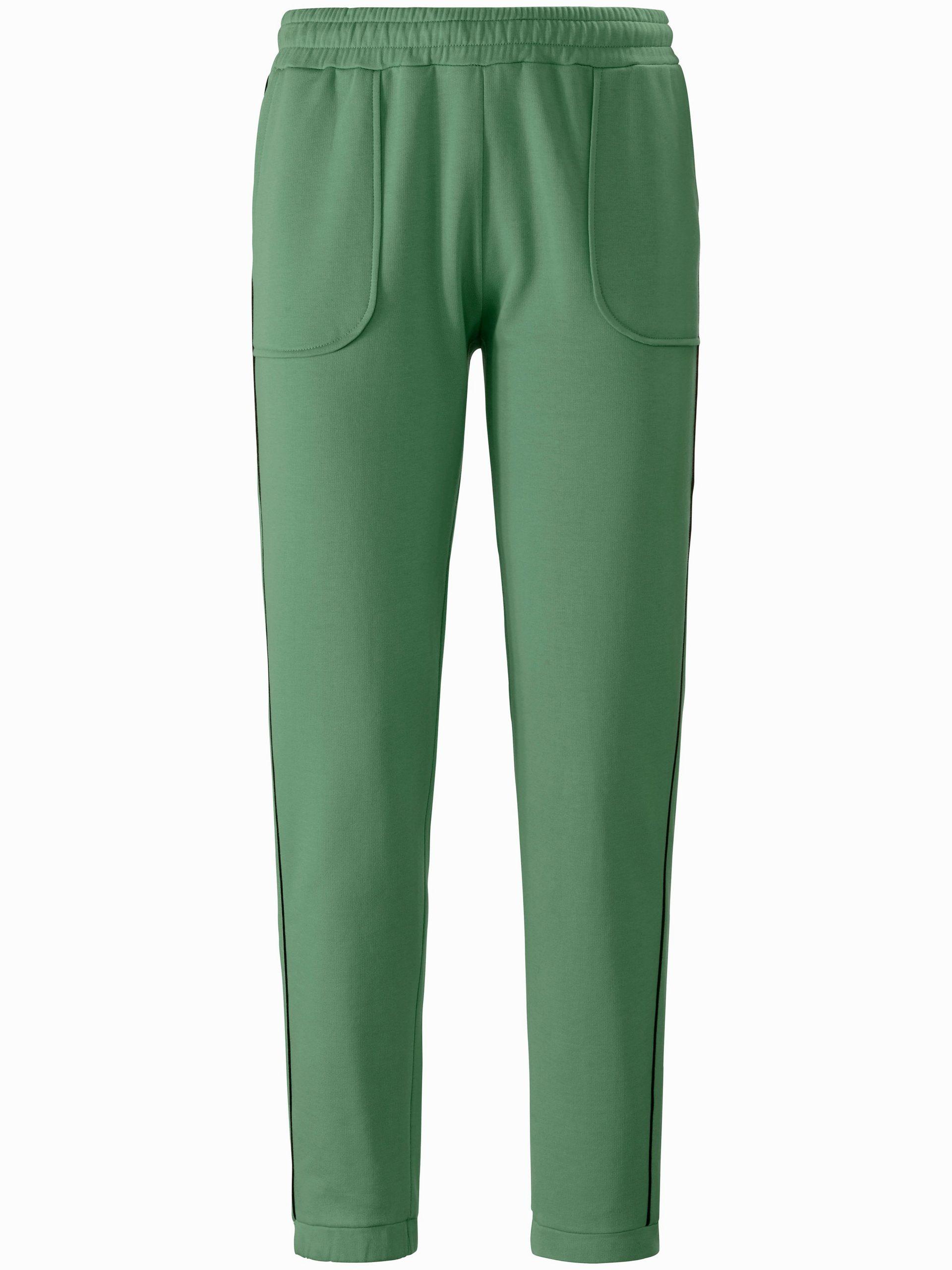 Enkellange sweatbroek met contrasterend paspel Van MYBC groen Kopen