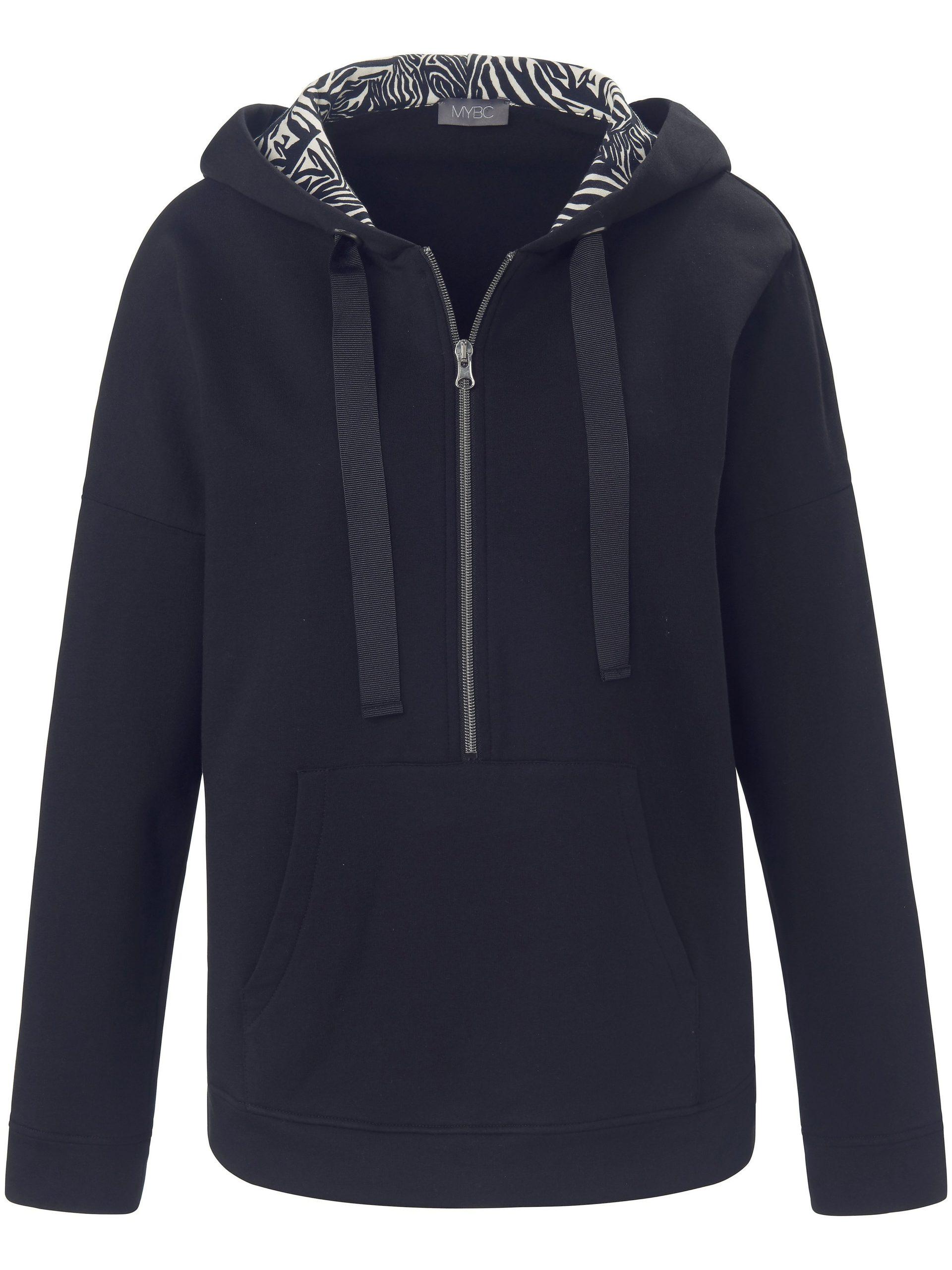 Sweatshirt met capuchon en lange mouwen Van MYBC blauw Kopen