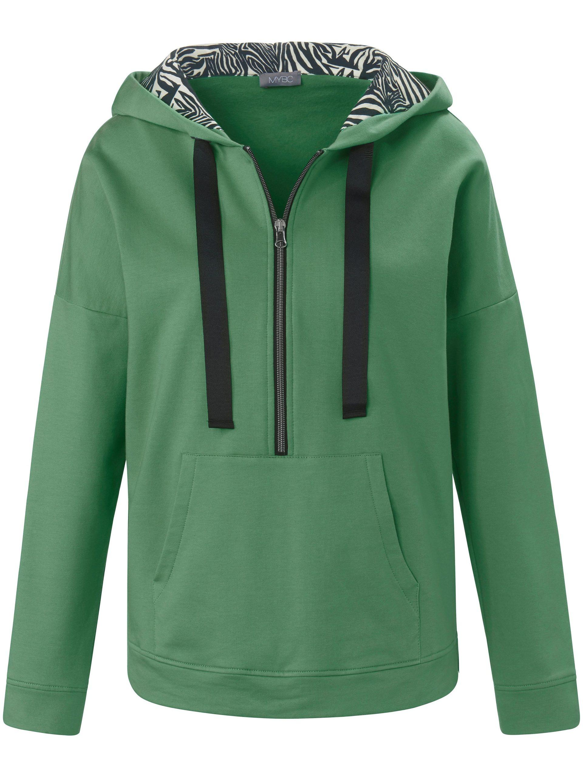 Sweatshirt met capuchon en lange mouwen Van MYBC groen Kopen