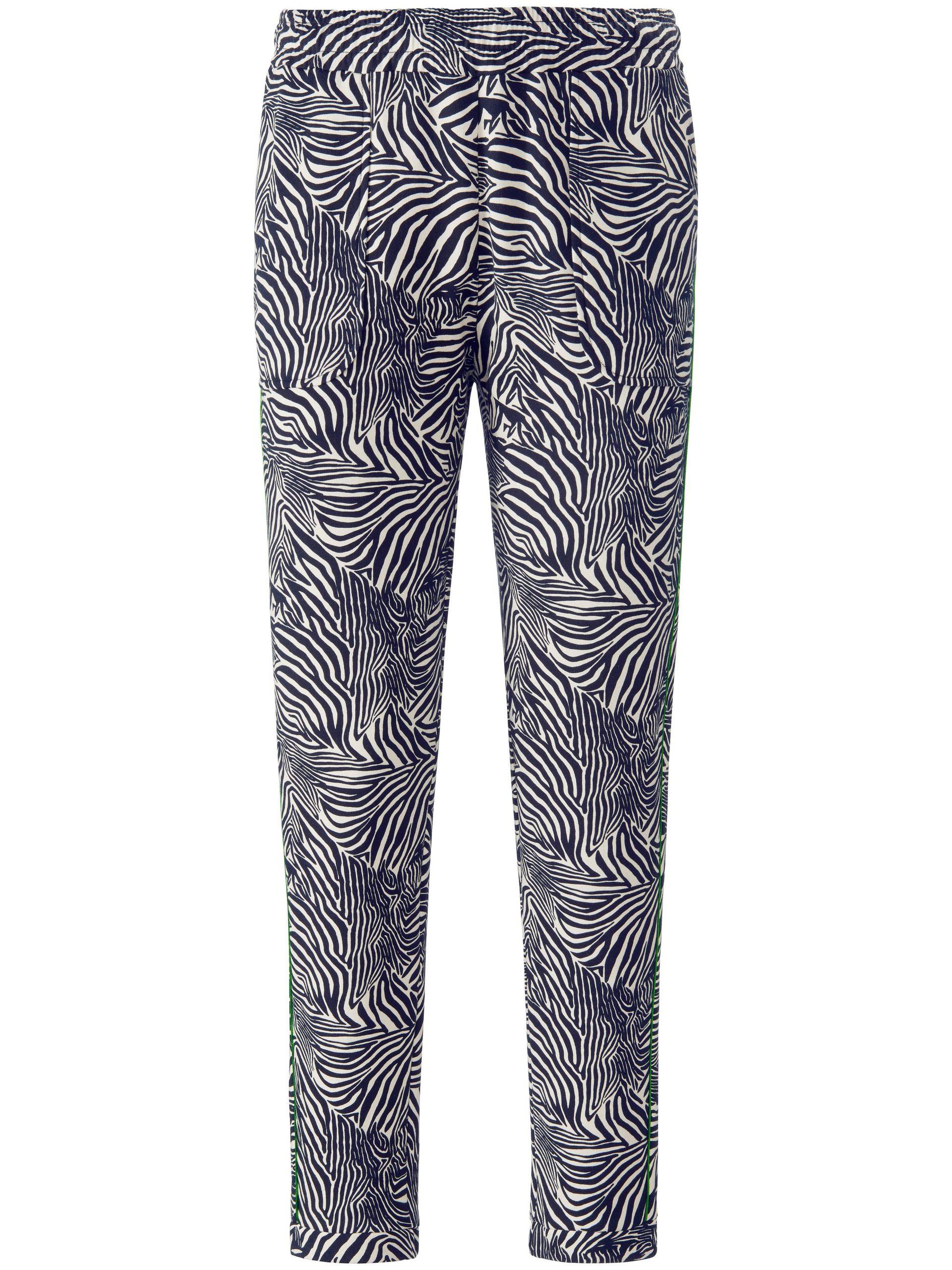 Enkellange sweatbroek met zebraprint Van MYBC blauw Kopen