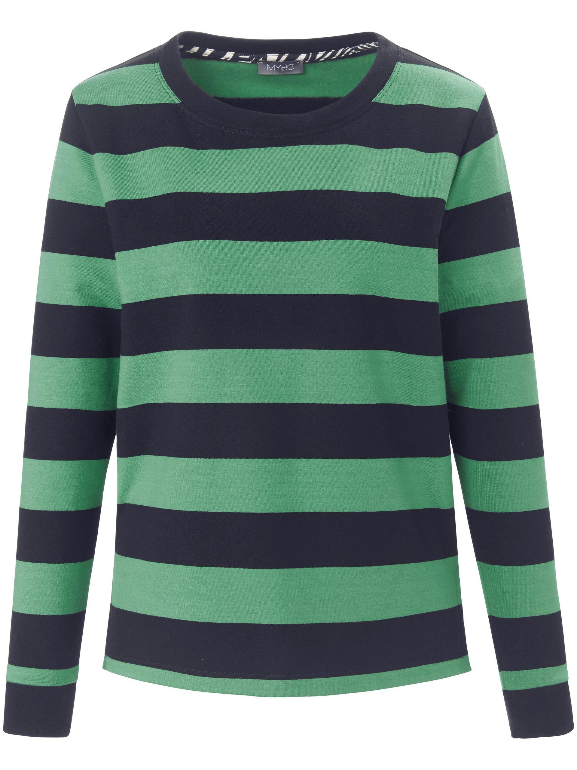 Sweatshirt met lange mouwen en zijsplitjes Van MYBC groen Kopen