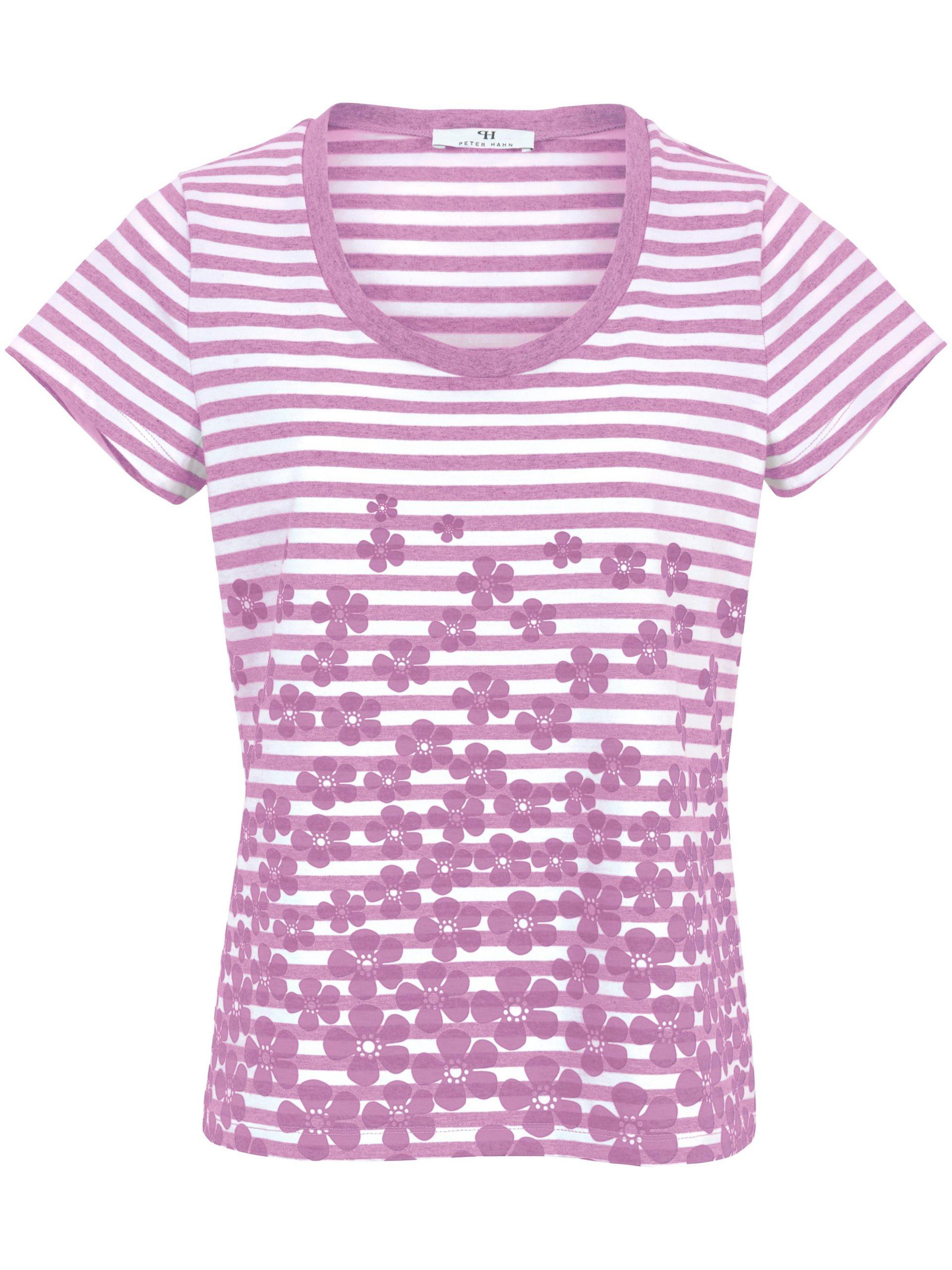 Shirt van 100% katoen met ronde hals Van Peter Hahn paars Kopen