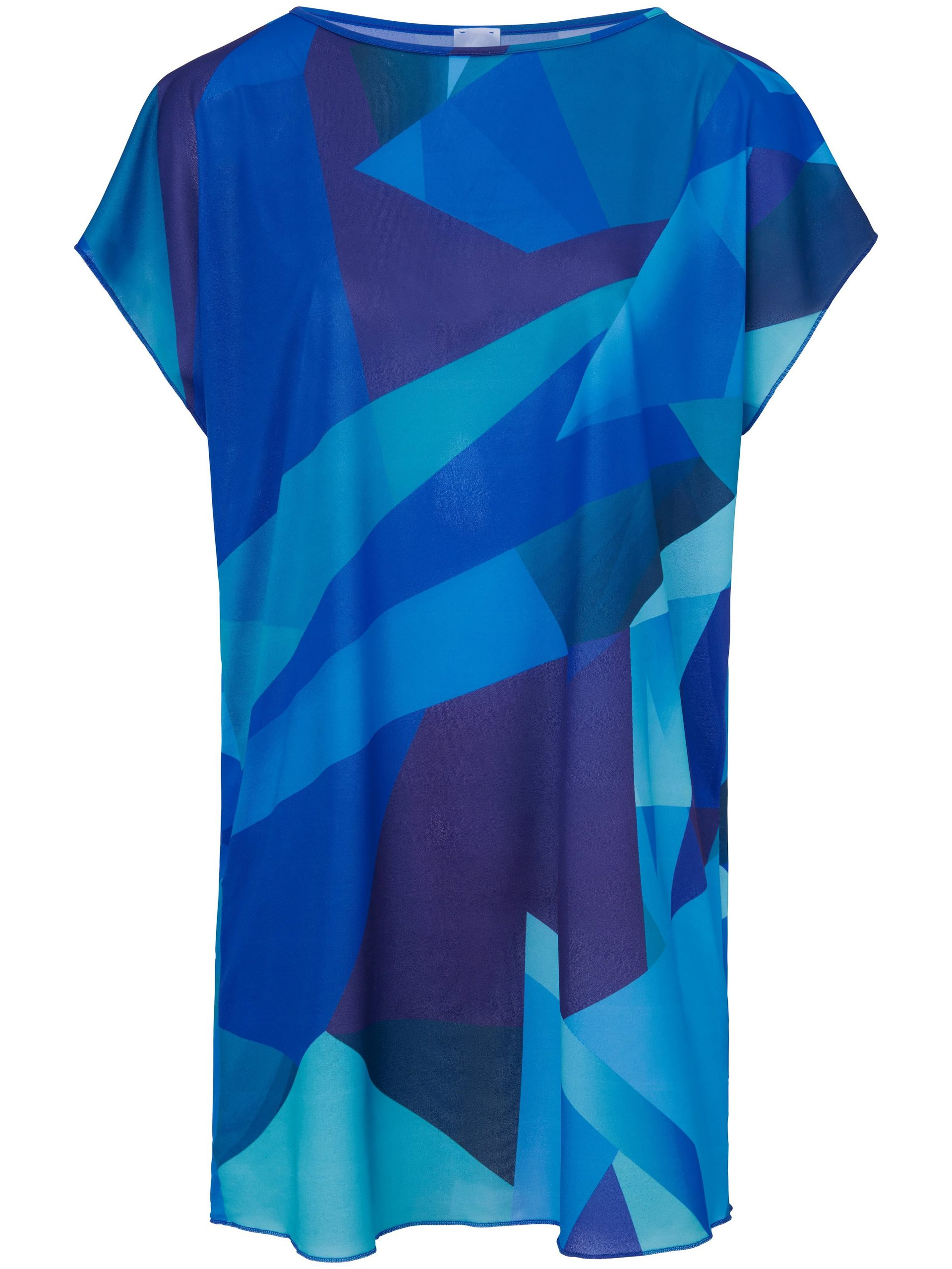 Jurk met grafische print Van Sunflair blauw Kopen
