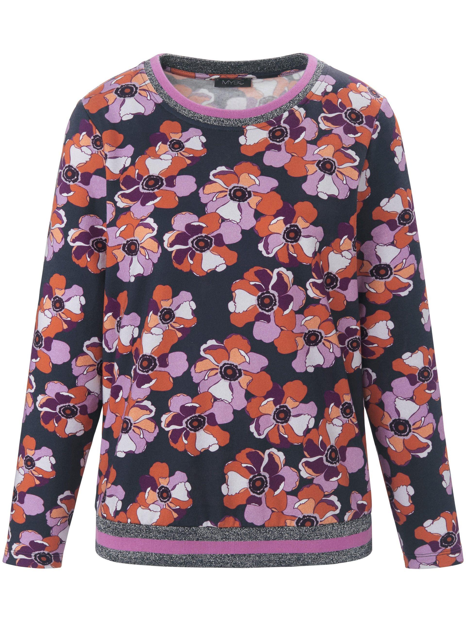 Sweatshirt met lange mouwen en bloemenprint Van MYBC multicolour Kopen