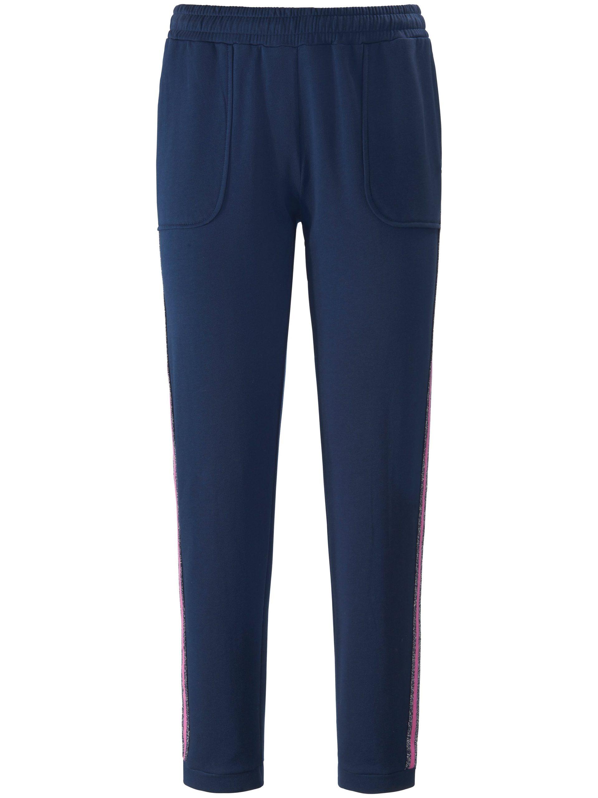 Enkellange sweatbroek met elastische band Van MYBC blauw Kopen