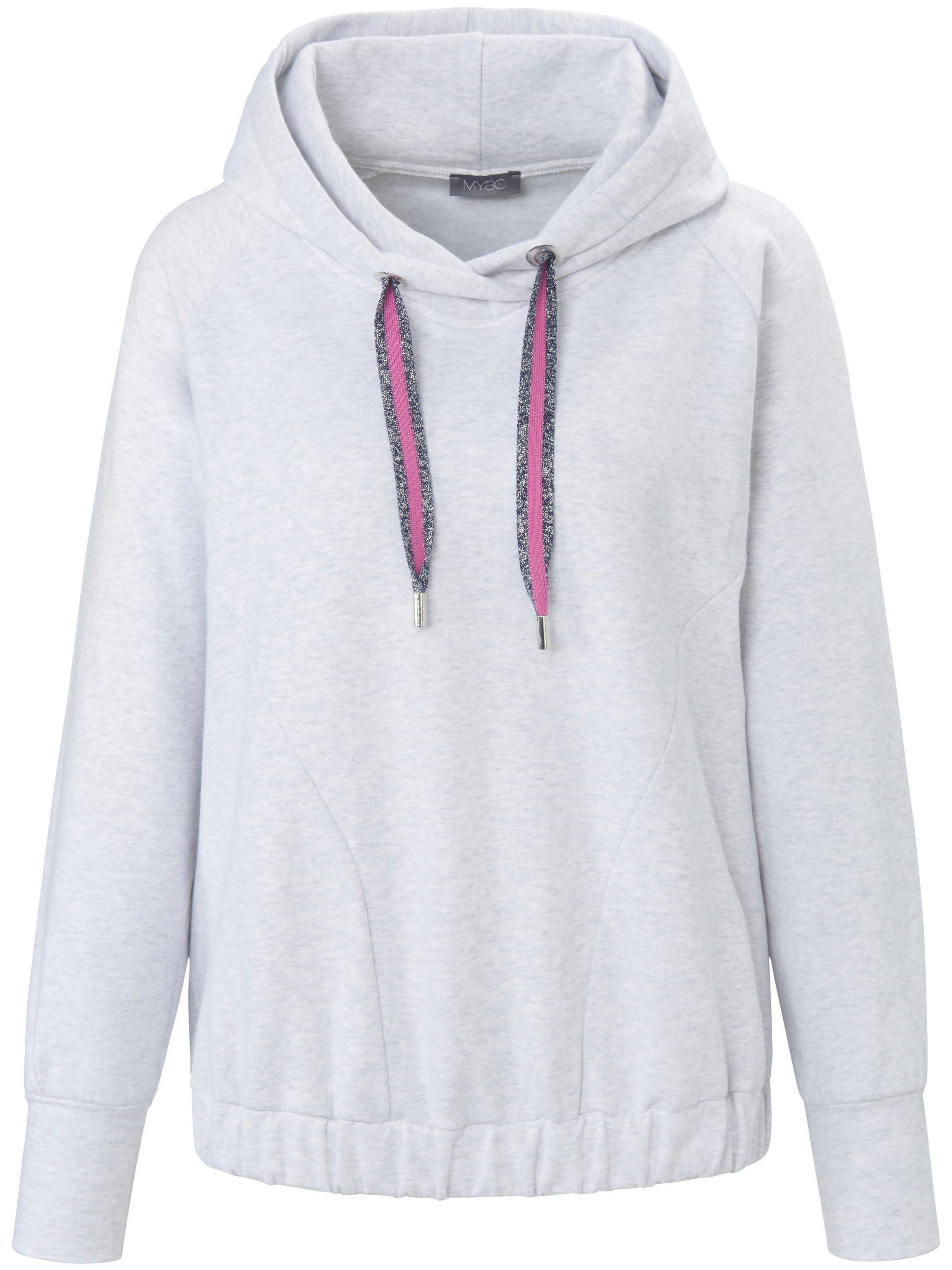Sweatshirt met capuchon en lange raglanmouwen Van MYBC grijs Kopen