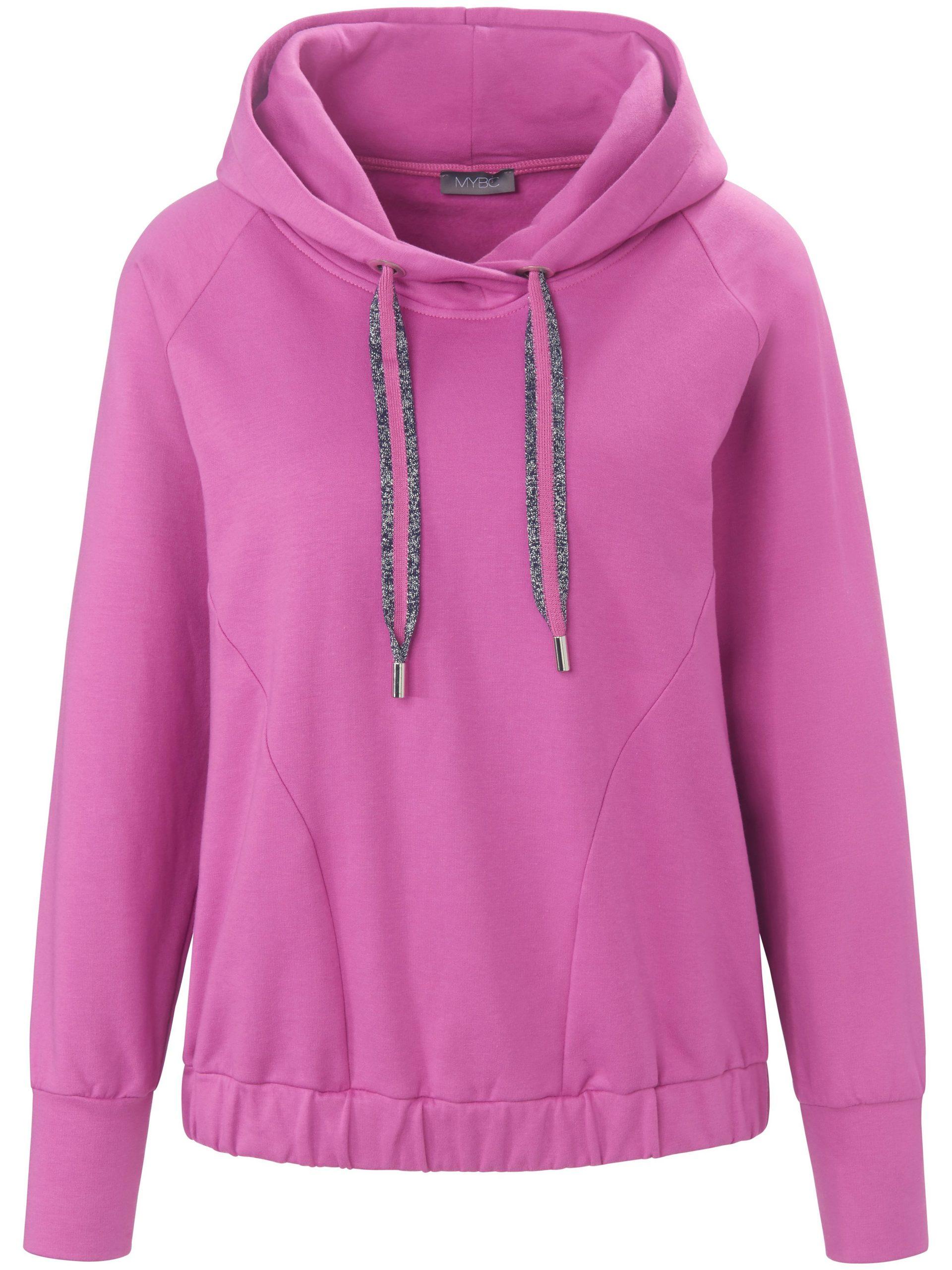 Sweatshirt met capuchon en lange raglanmouwen Van MYBC lichtroze Kopen