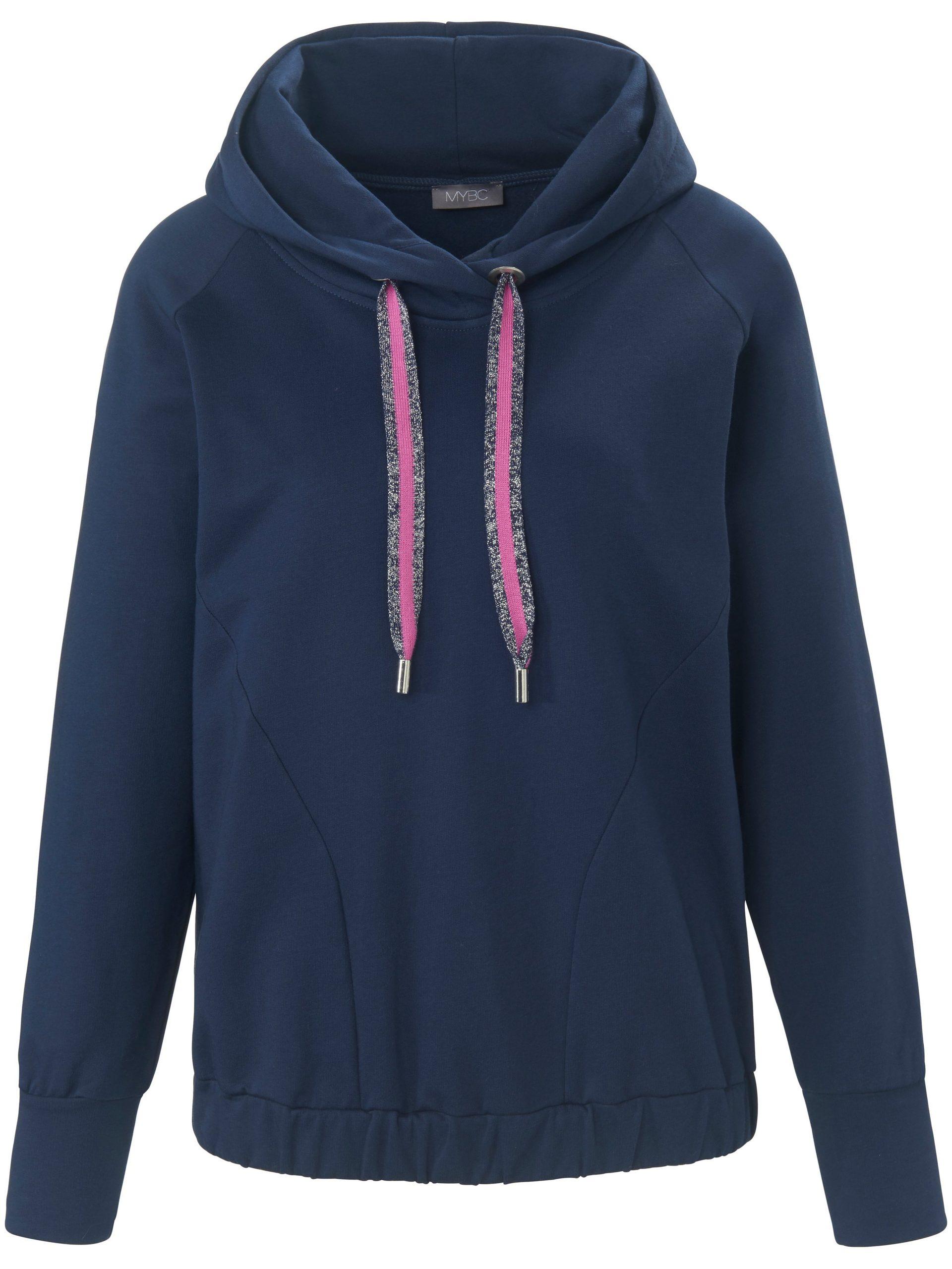 Sweatshirt met capuchon en lange raglanmouwen Van MYBC blauw Kopen
