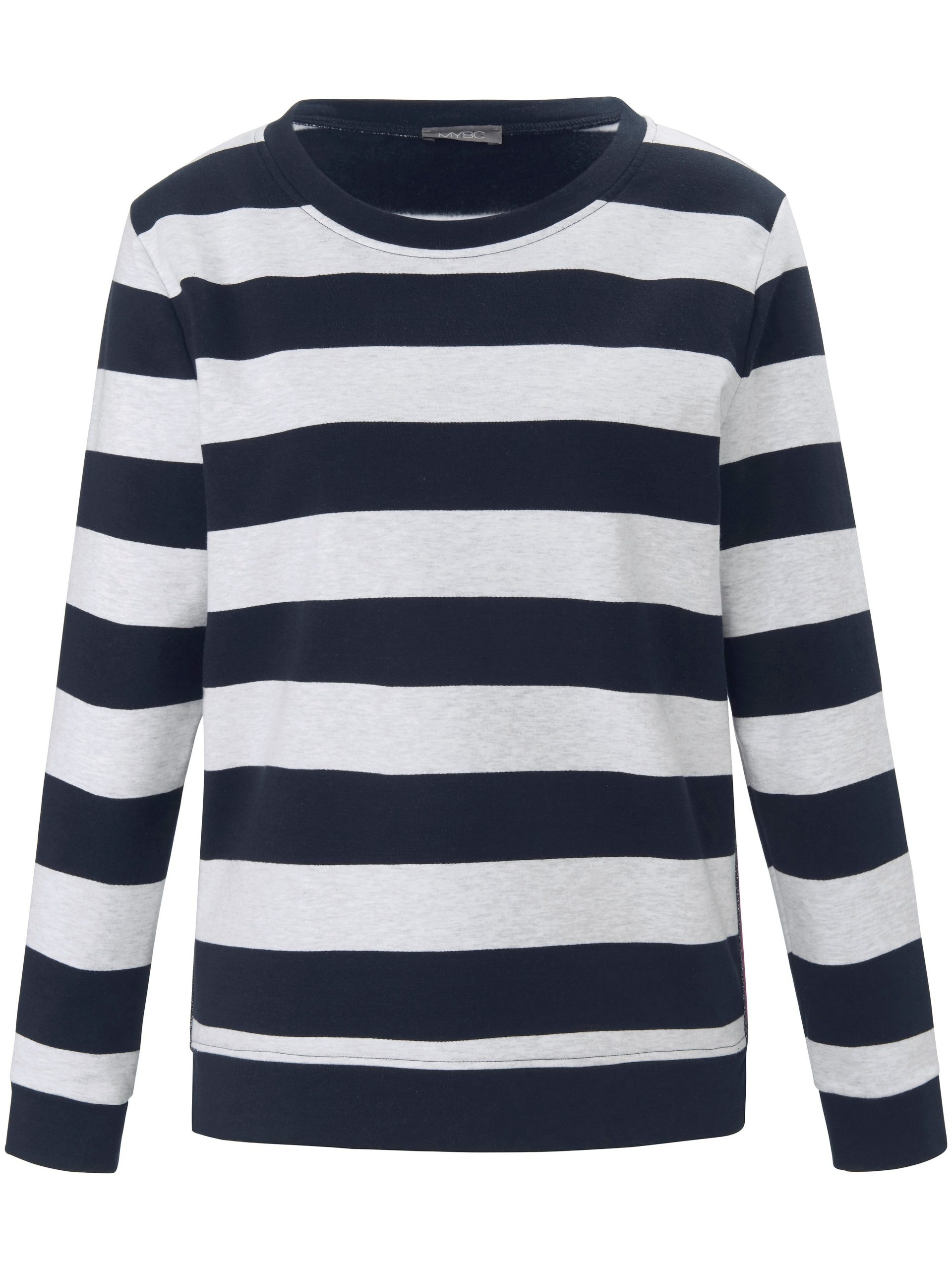 Sweatshirt met lange mouwen en zijsplitjes Van MYBC blauw Kopen
